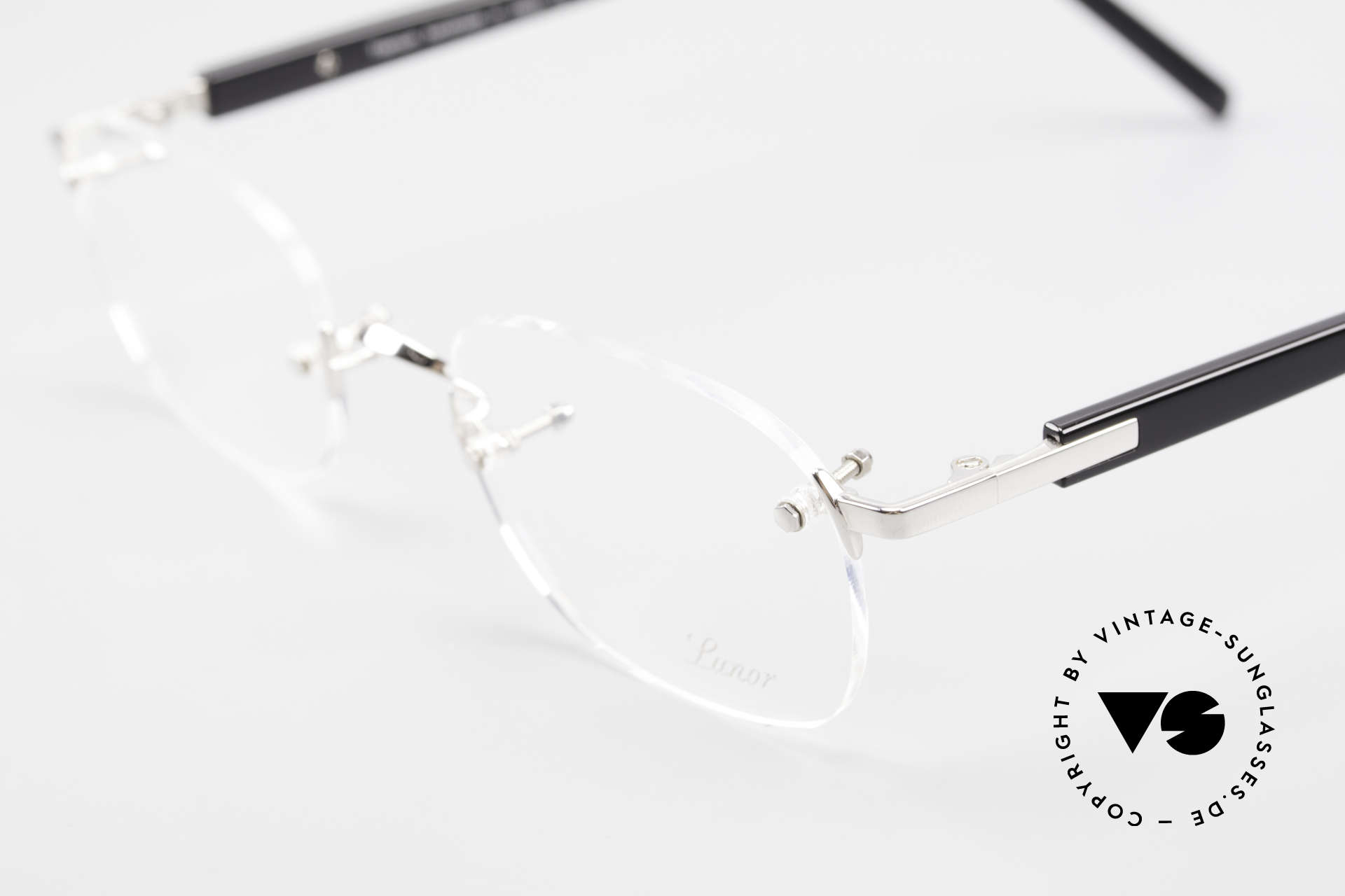 Lunor Classic V Anatomic PP Rimless Frame Platin Plated, from the 2015's collection, but in a well-known quality, Made for Men