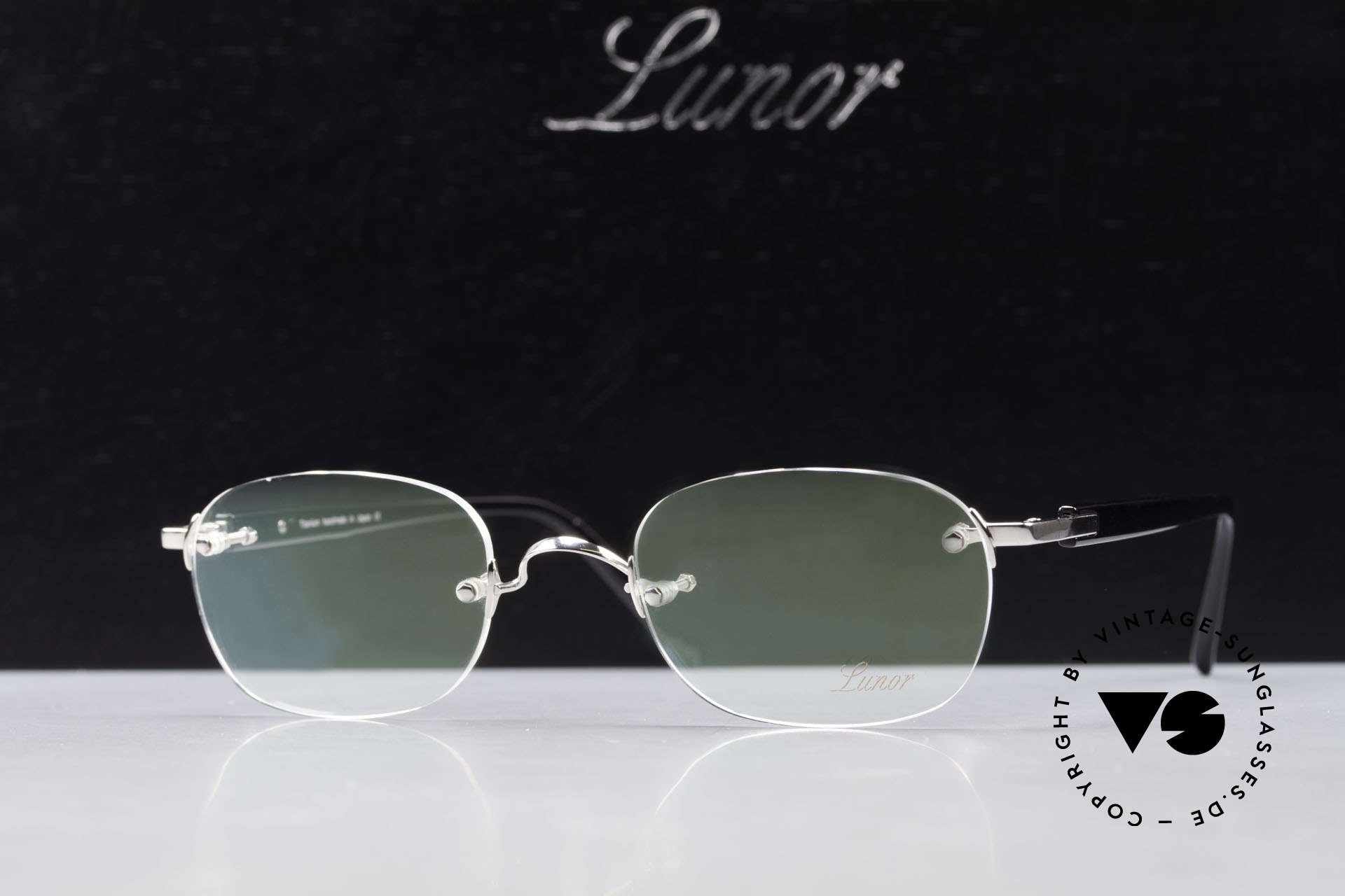 Lunor Classic V Anatomic PP Rimless Frame Platin Plated, Size: medium, Made for Men