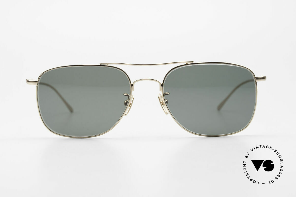 Lunor Aviator II P4 GP Classy Men's Sunglasses Gold, LUNOR: honest craftsmanship with attention to details, Made for Men