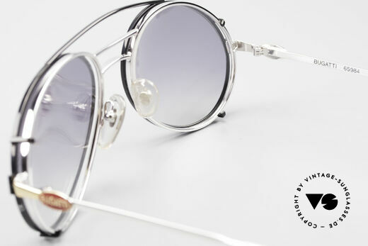 Bugatti 65984 80's Eyeglasses With Clip On, unworn (like all our vintage Bugatti glasses), Made for Men