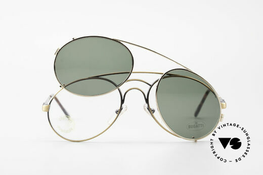 Bugatti 07823 Old 80's Glasses With Clip On, Size: medium, Made for Men