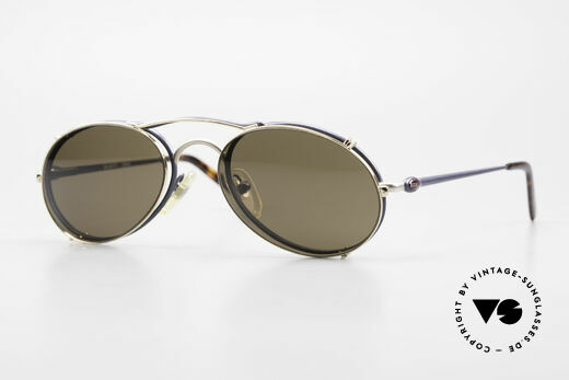 Bugatti 23444 Old 90's Glasses With Clip On Details