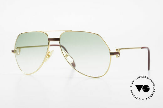 Cartier Vendome Laque - S Old 1980's Luxury Sunglasses Details