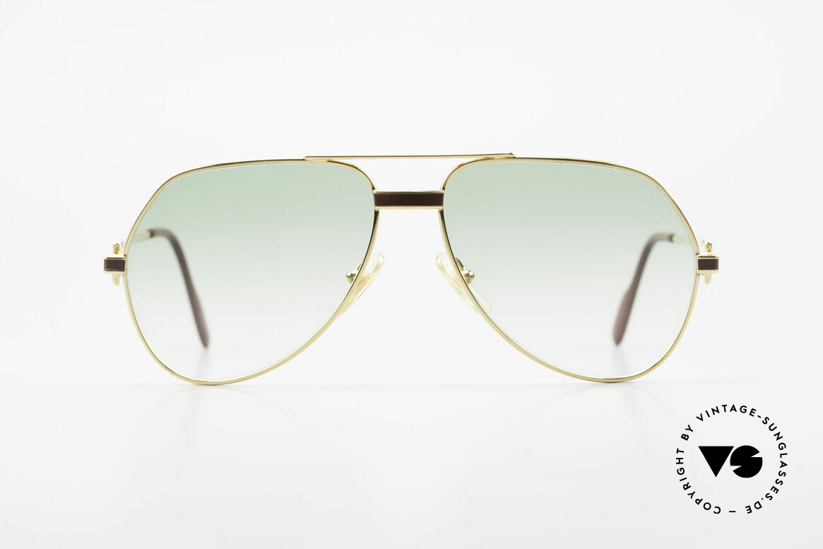 Cartier Vendome Laque - S Old 1980's Luxury Sunglasses, Vendome = the most famous eyewear design by CARTIER, Made for Men and Women