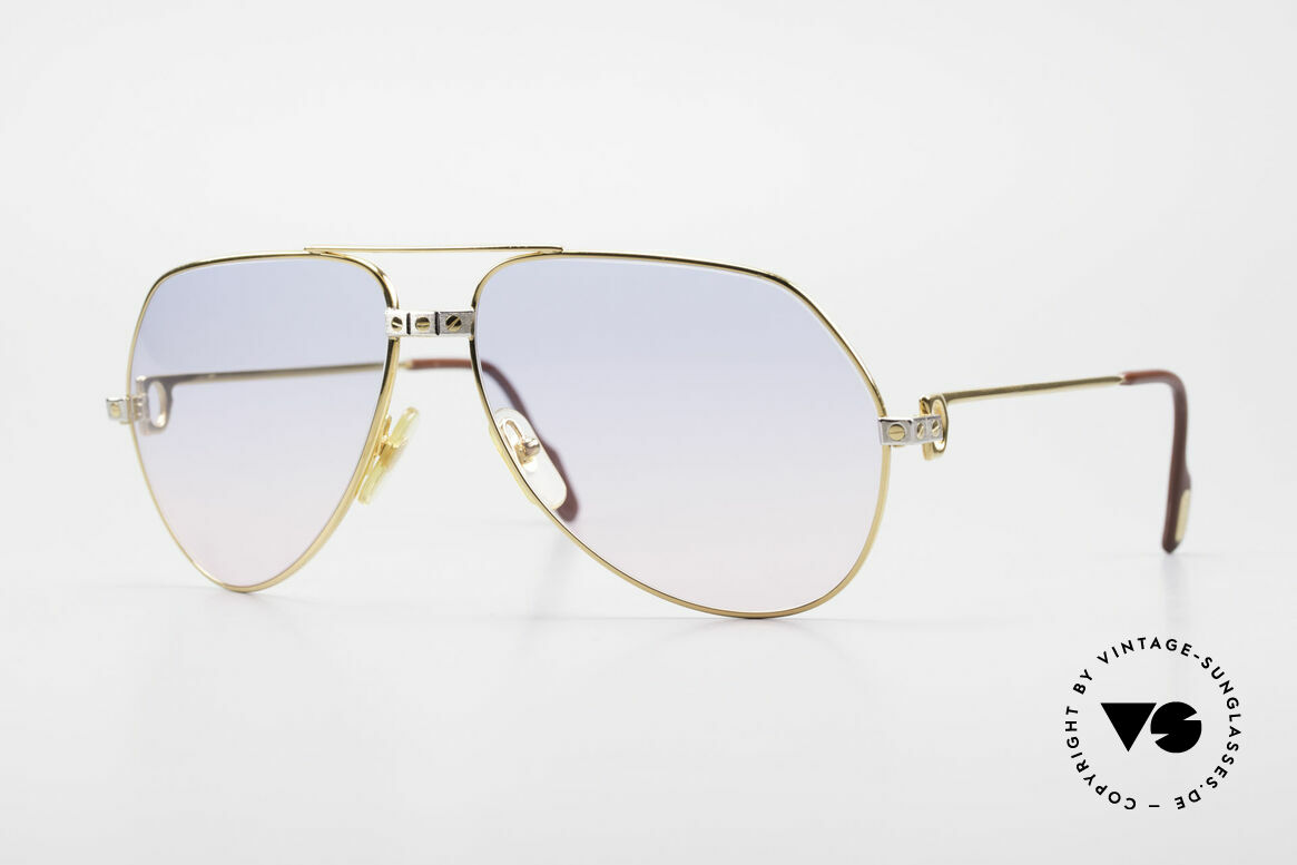 Cartier Vendome Santos - L Rare Luxury 80's Sunglasses, Vendome = the most famous eyewear design by CARTIER, Made for Men