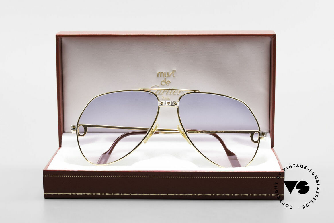 Cartier Vendome Santos - L Rare Luxury 80's Sunglasses, 2nd hand model, but in mint condition + CARTIER Box, Made for Men
