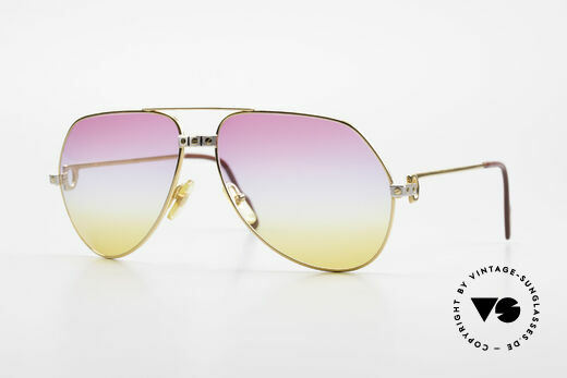 Cartier Vendome Santos - L Rare 80's Aviator Sunglasses Details