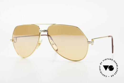 Cartier Vendome Santos - L Half Mirrored Orange Lenses Details