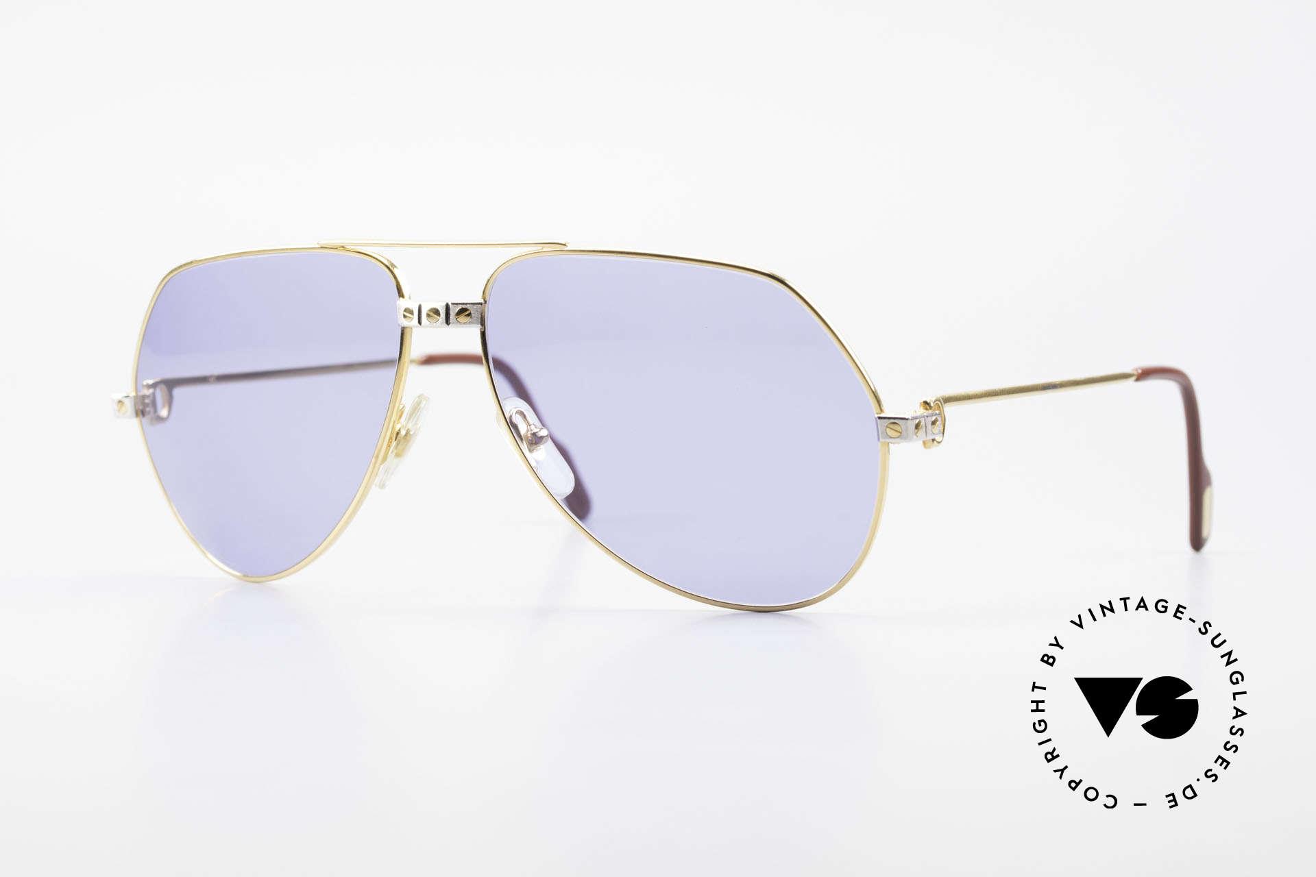 Cartier Vendome Santos - L 80's Luxury Aviator Sunglasses, Vendome = the most famous eyewear design by CARTIER, Made for Men