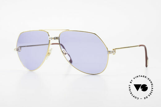 Cartier Vendome Santos - L 80's Luxury Aviator Sunglasses Details