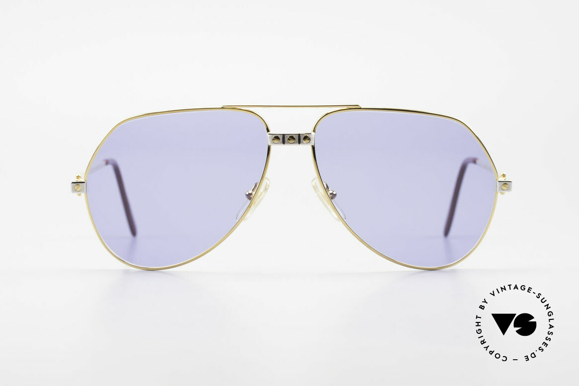 """Cartier Vendome Santos - L 80's Luxury Aviator Sunglasses, mod. """"Vendome"""" was launched in 1983 & made till 1997, Made for Men"""