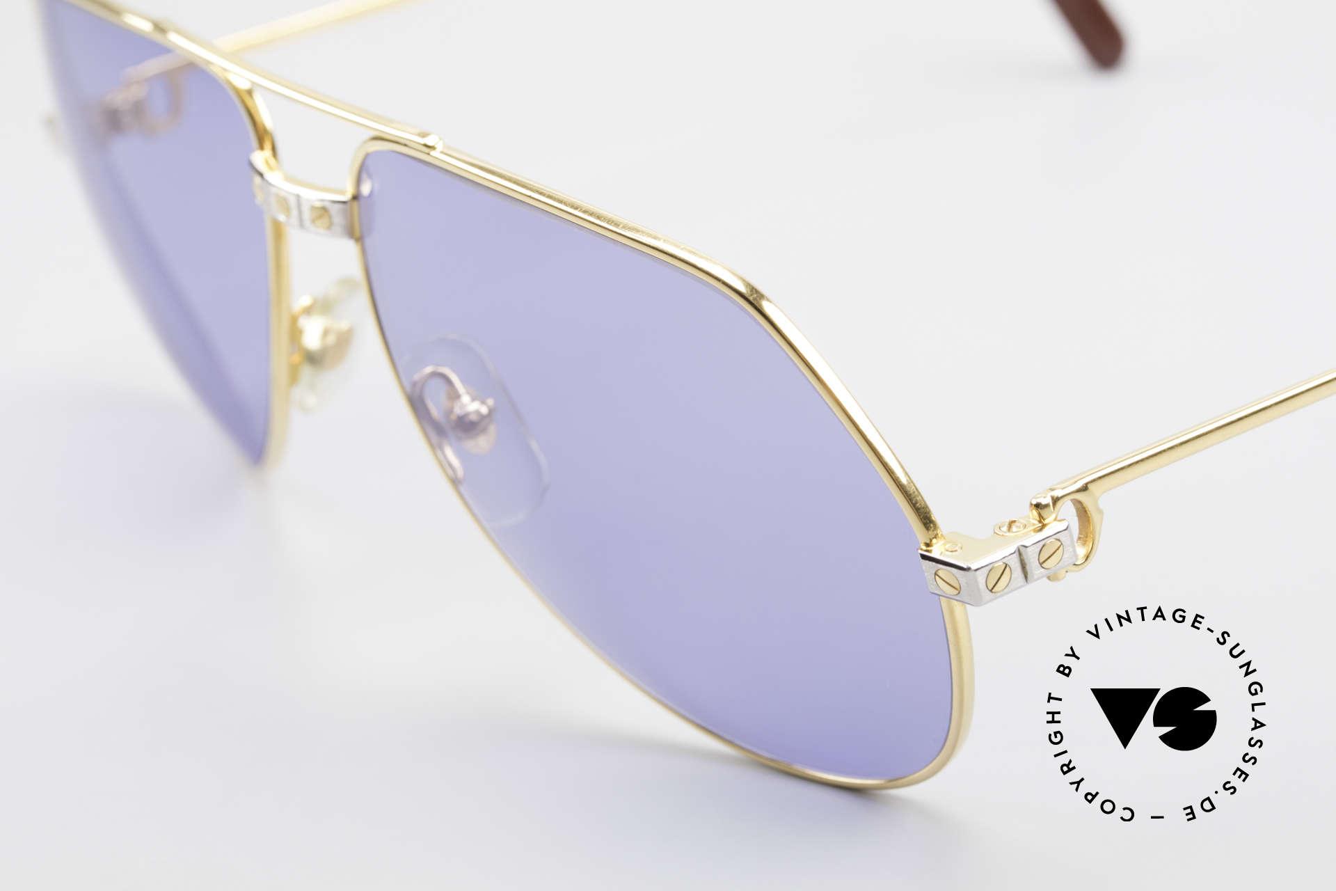 Cartier Vendome Santos - L 80's Luxury Aviator Sunglasses, worn by actor Christopher Walken (JAMES BOND, 1985), Made for Men