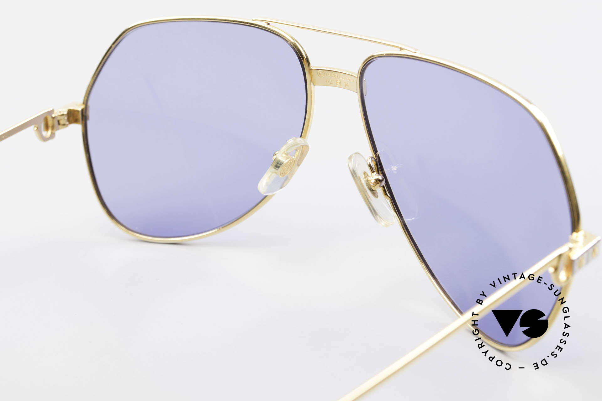 Cartier Vendome Santos - L 80's Luxury Aviator Sunglasses, 2nd hand model, but in mint condition + CARTIER box, Made for Men