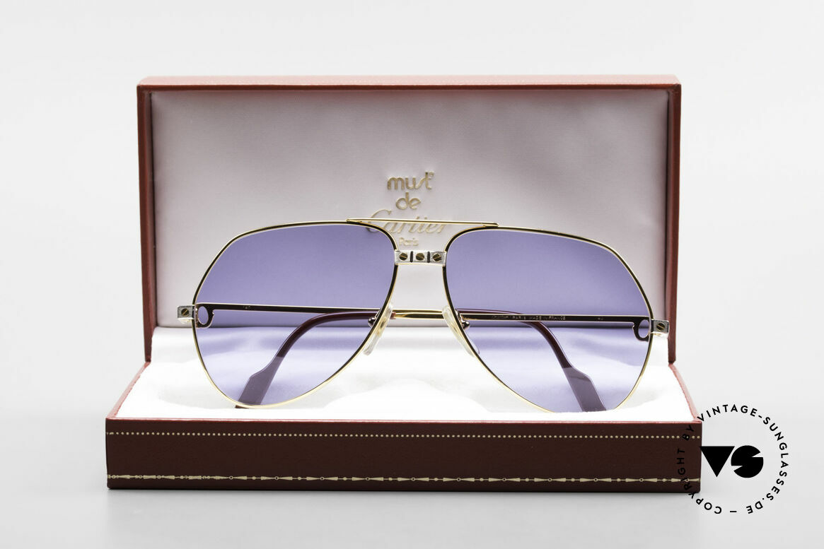 Cartier Vendome Santos - L 80's Luxury Aviator Sunglasses, NO RETRO sunglasses, but an authentic vintage rarity, Made for Men