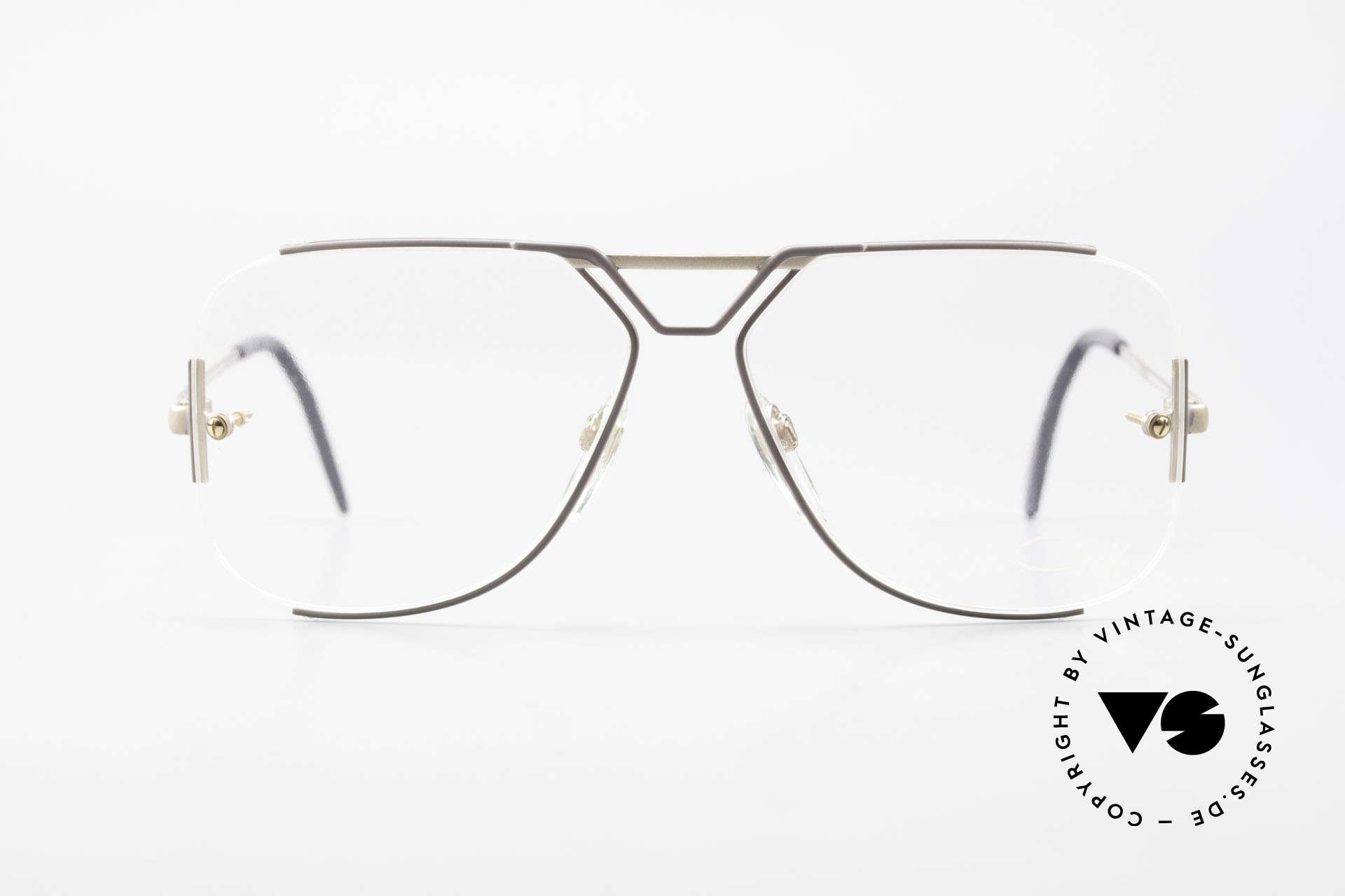 Cazal 722 Extraordinary Vintage Frame, very special frame construction; semi-rimless, Made for Men