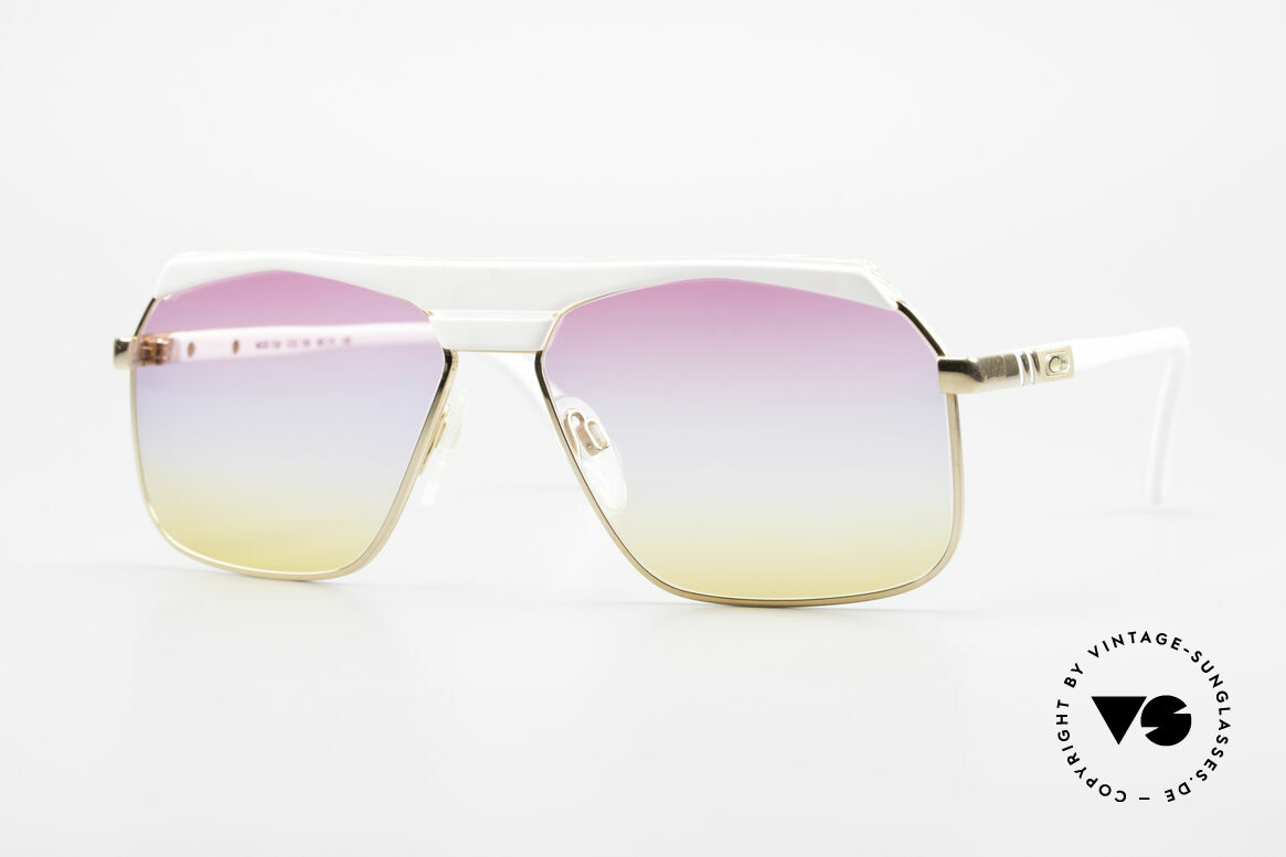 Cazal 730 80's Shades With Sunrise Lenses, classic vintage designer sunglasses from the 80's, Made for Men and Women