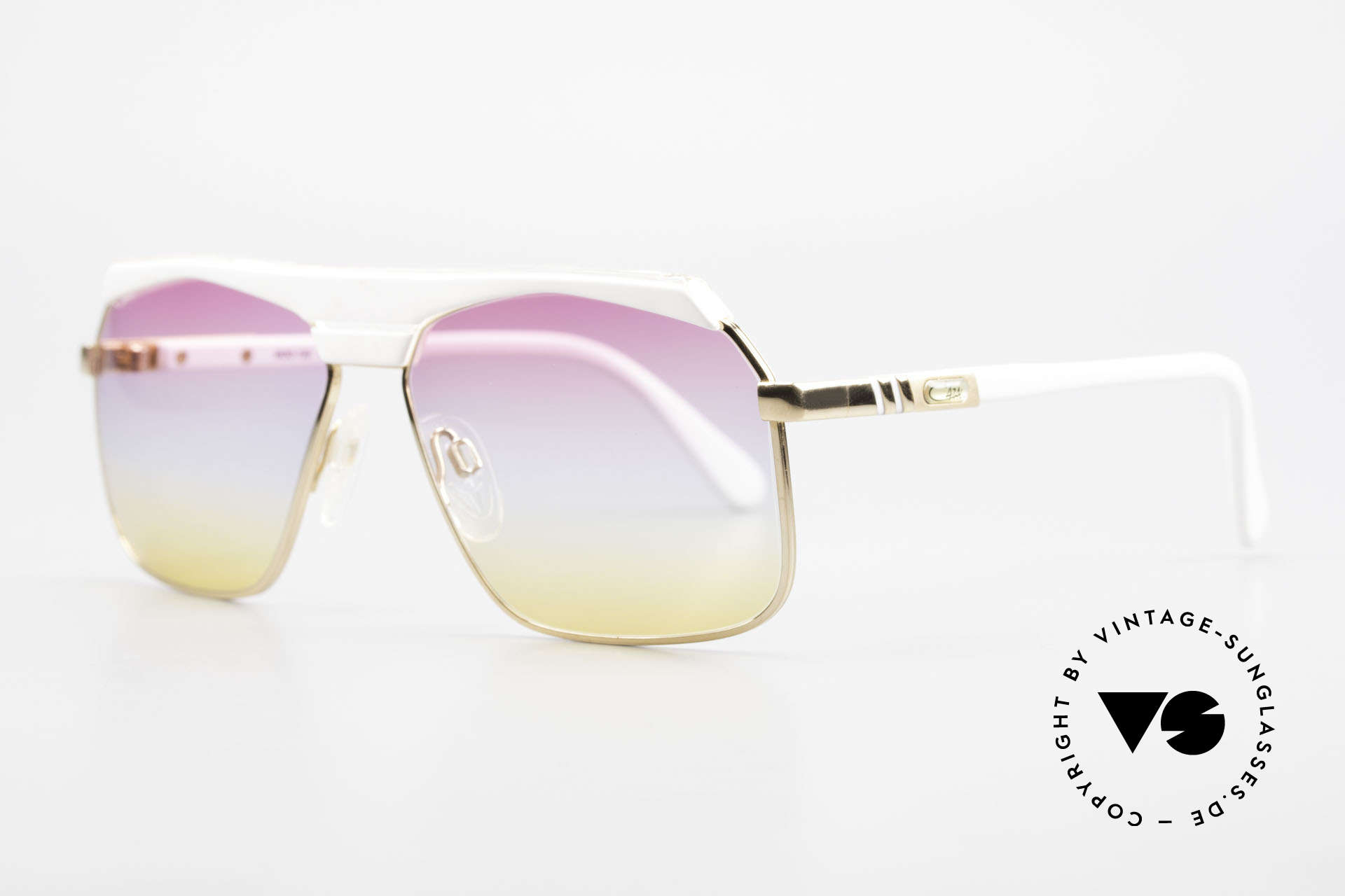 Cazal 730 80's Shades With Sunrise Lenses, a true alternative to the common Aviator-style, Made for Men and Women