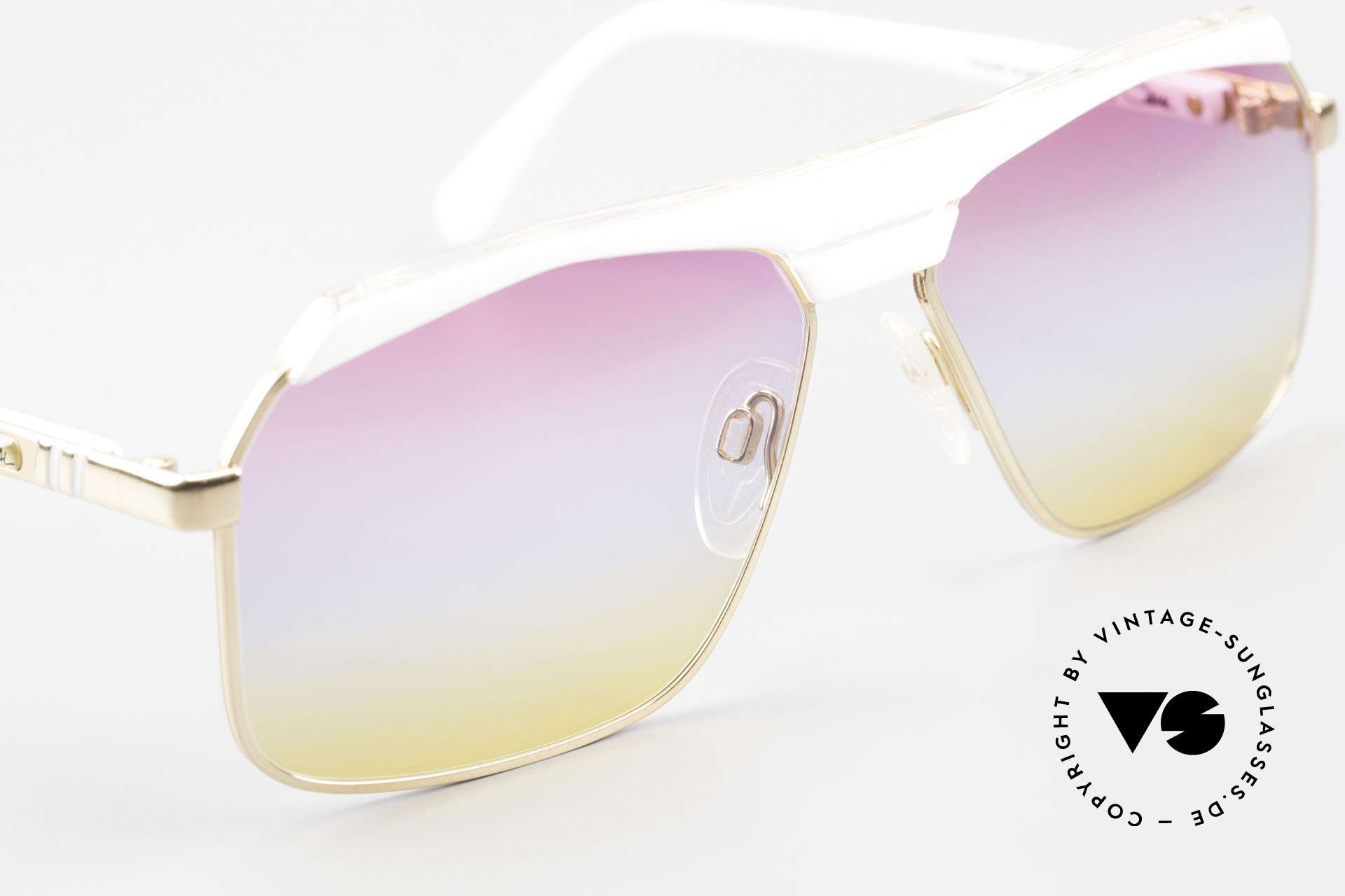 Cazal 730 80's Shades With Sunrise Lenses, unworn with new sunrise colored lenses, fancy!, Made for Men and Women