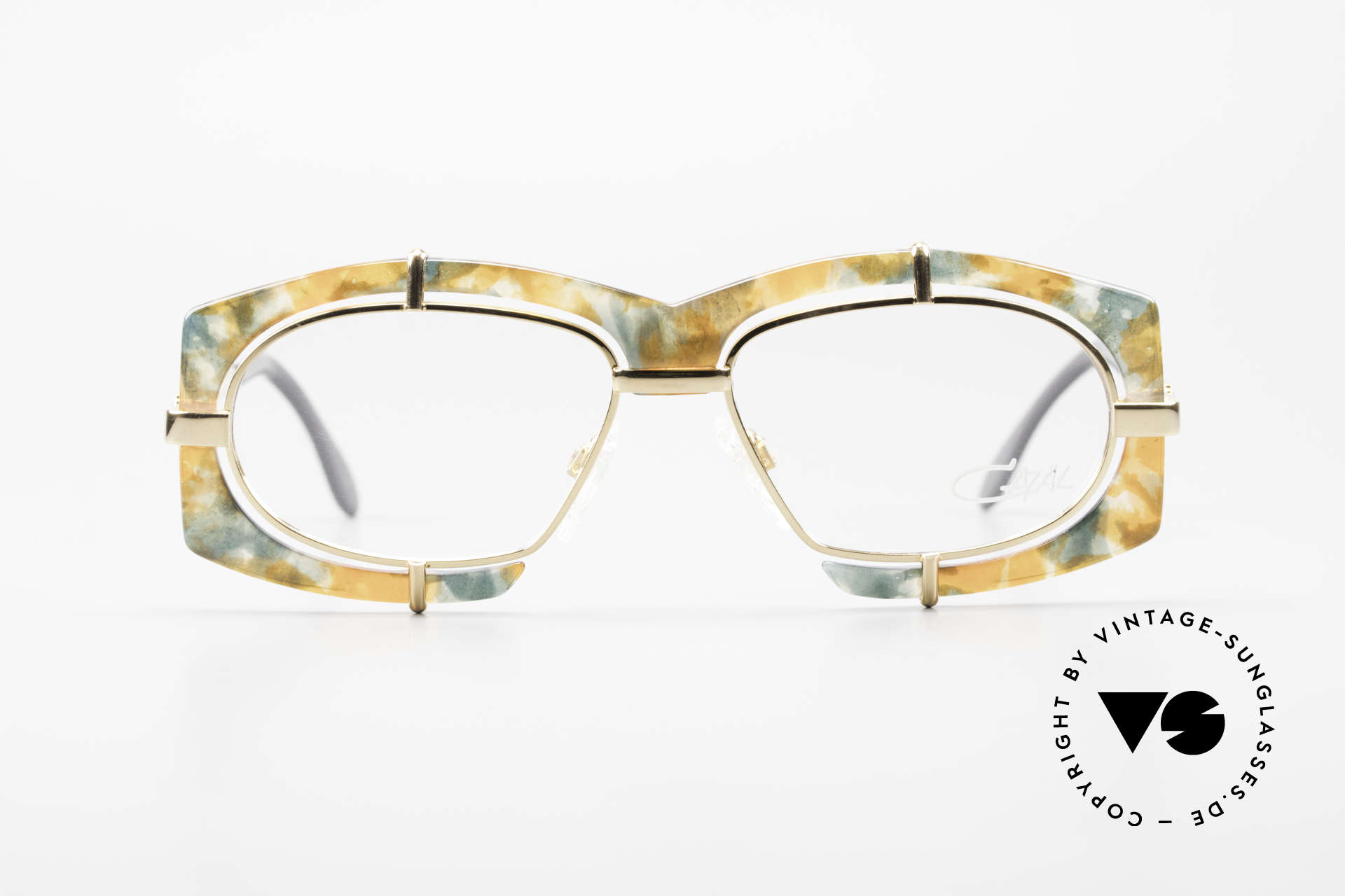 Cazal 872 Extraordinary 90's Eyeglasses, extravagant lens mounting & spunky frame coloring, Made for Men and Women