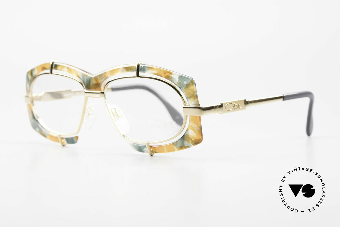 Cazal 872 Extraordinary 90's Eyeglasses, flashy Haute Couture design; distinctive CAri ZALloni, Made for Men and Women