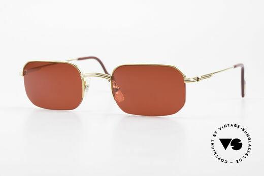 Cartier Broadway Semi Rimless Sunglasses 3D Red Details