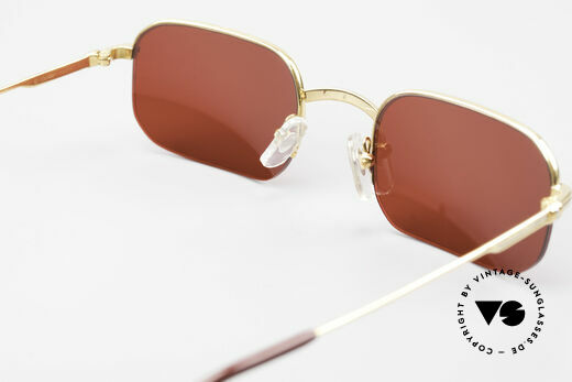 Cartier Broadway Semi Rimless Sunglasses 3D Red, NO RETRO sunglasses; an old original from app. 1999!, Made for Men