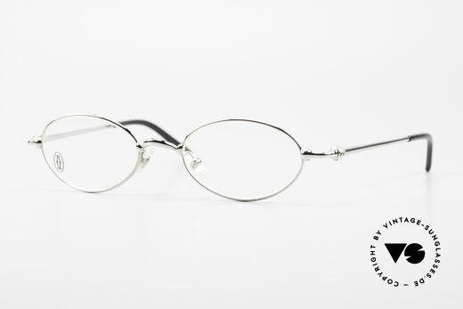 Cartier Mizar Oval Frame Luxury Platinum Details