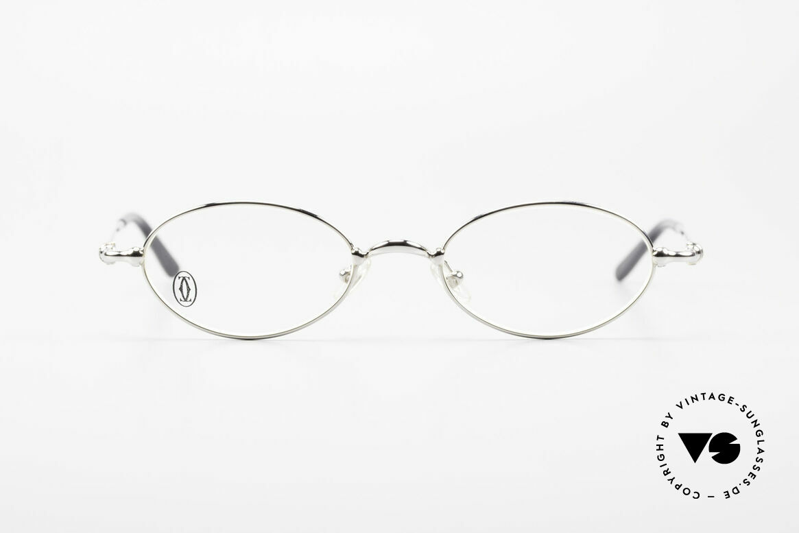 Cartier Mizar Oval Frame Luxury Platinum, unisex model of the 'THIN RIM' Collection by Cartier, Made for Men and Women