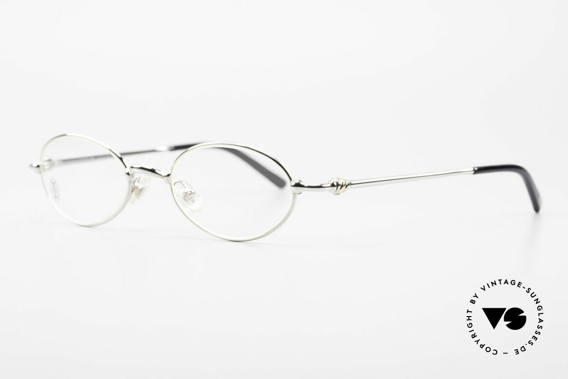 Cartier Mizar Oval Frame Luxury Platinum, costly 'Platine Edition' (frame with platinum finish), Made for Men and Women