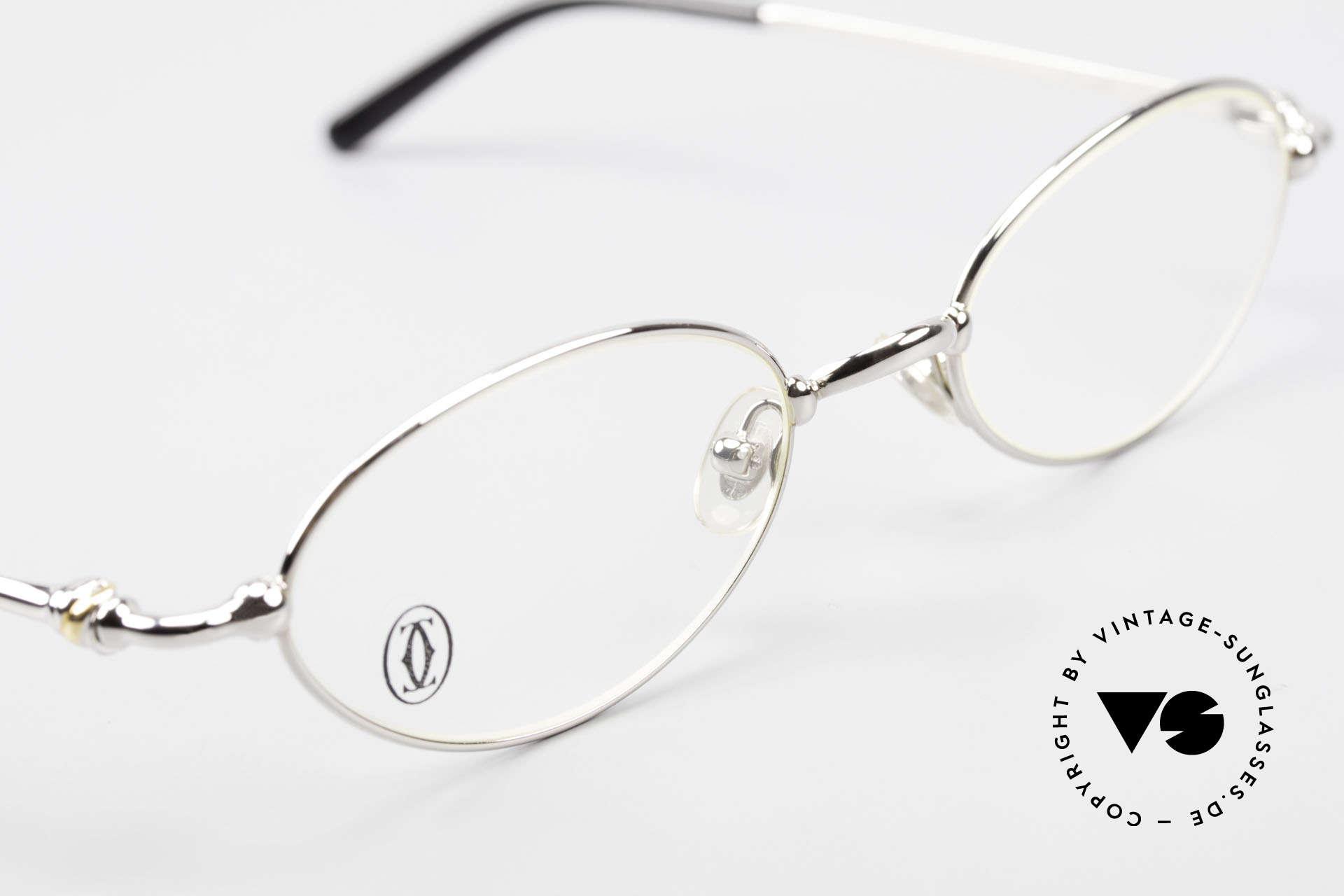 Cartier Mizar Oval Frame Luxury Platinum, NO retro eyeglasses; an old original from app. 1999!, Made for Men and Women