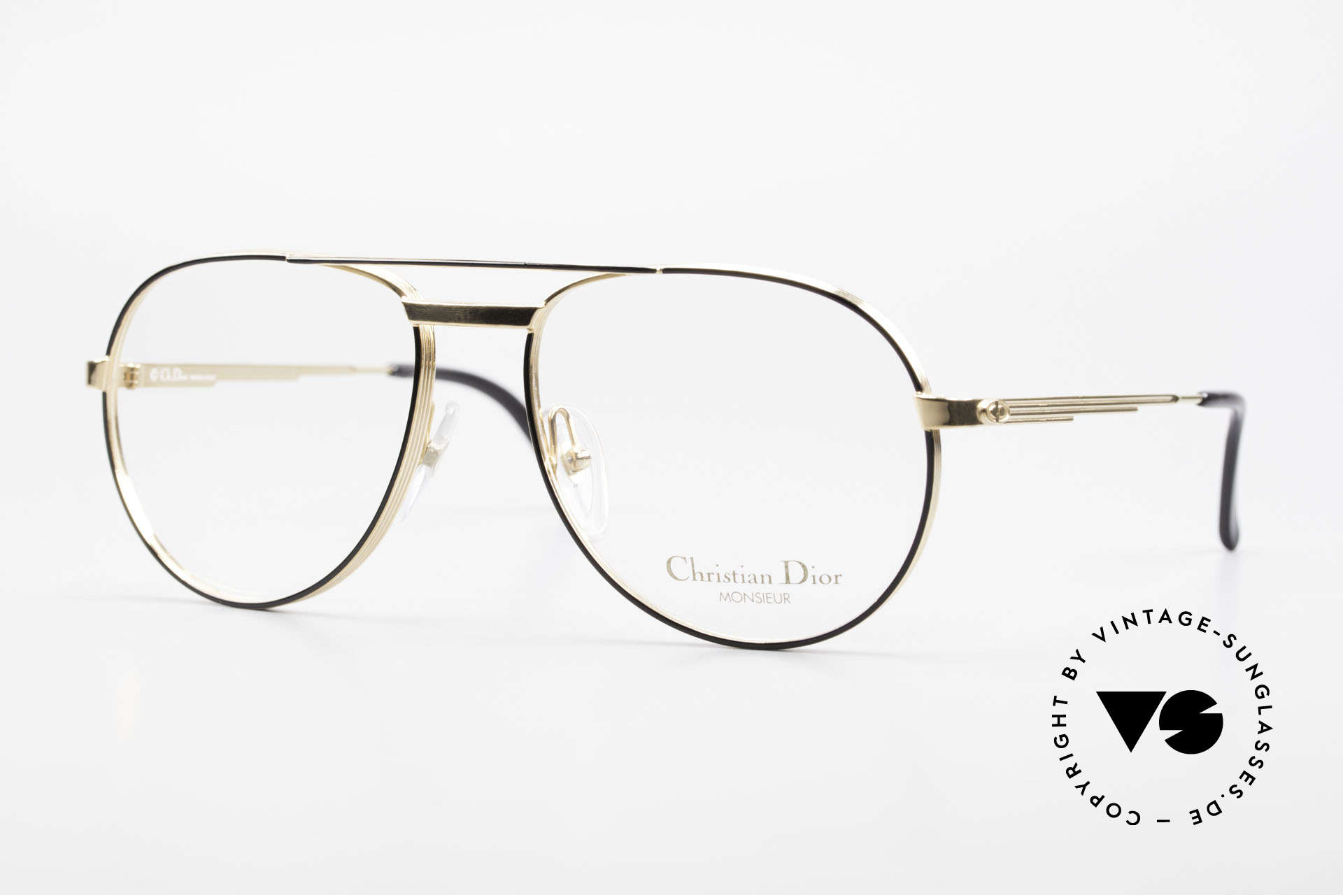 "Christian Dior 2448 Gold-Plated Dior Monsieur Frame, noble frame of the ""Monsieur""-series by Christian Dior, Made for Men"