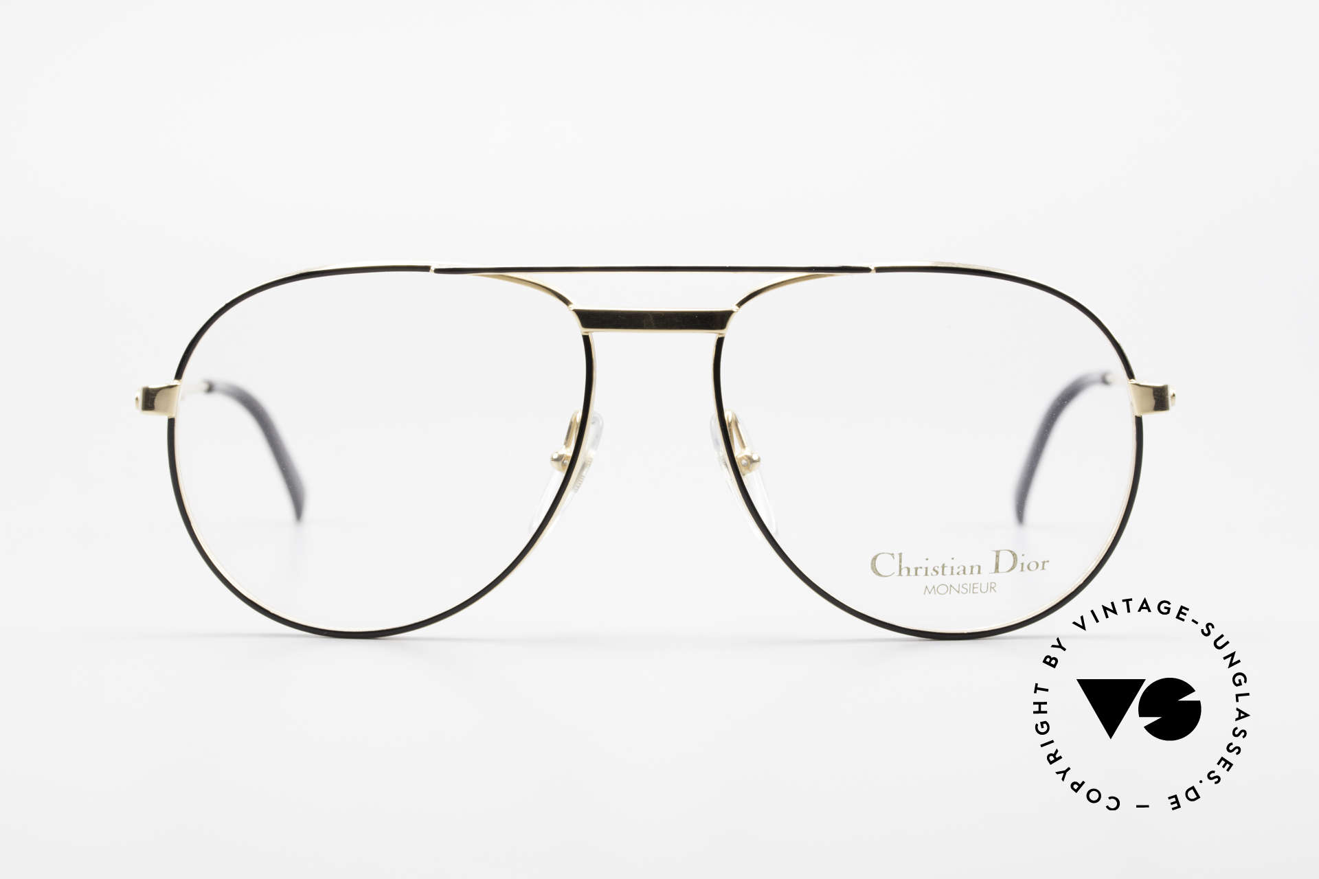 Christian Dior 2448 Gold-Plated Dior Monsieur Frame, precious designer eyeglasses from 1989; true vintage!, Made for Men