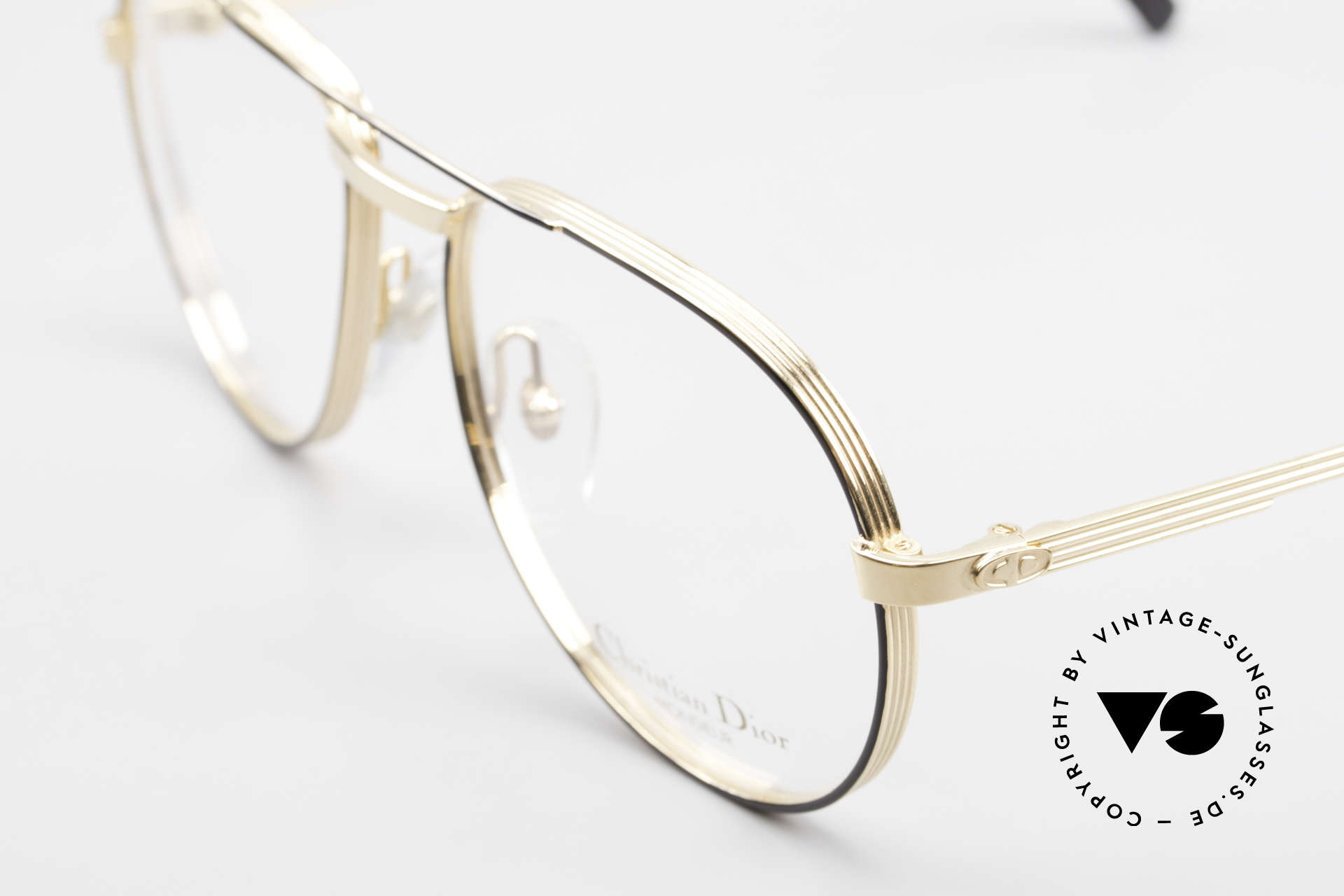 Christian Dior 2448 Gold-Plated Dior Monsieur Frame, 4mm thick outlines, HARD GOLD-PLATED, monolithic, Made for Men