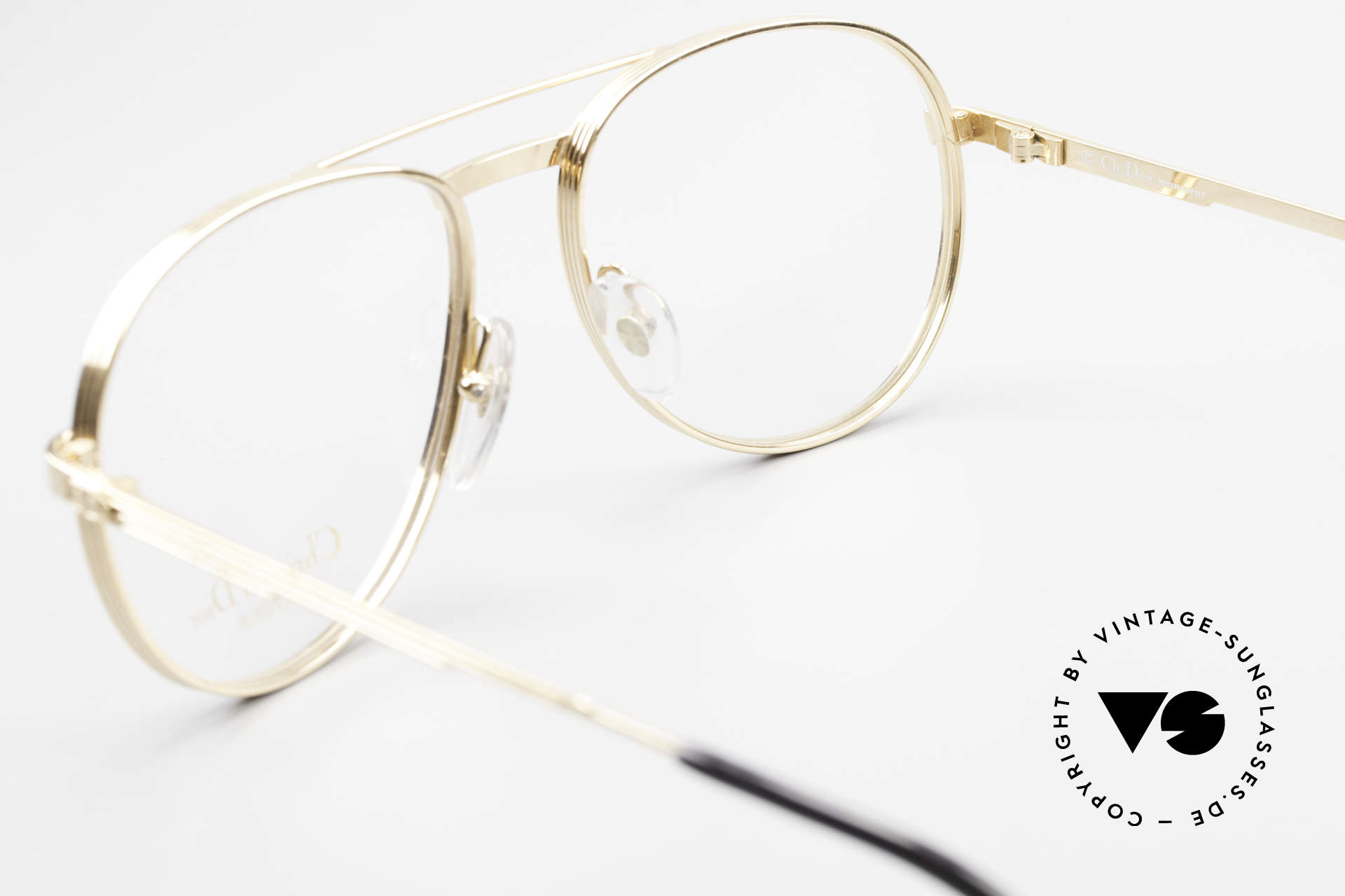 Christian Dior 2448 Gold-Plated Dior Monsieur Frame, NO RETRO EYEGLASSES; but a 30 years old ORIGINAL, Made for Men
