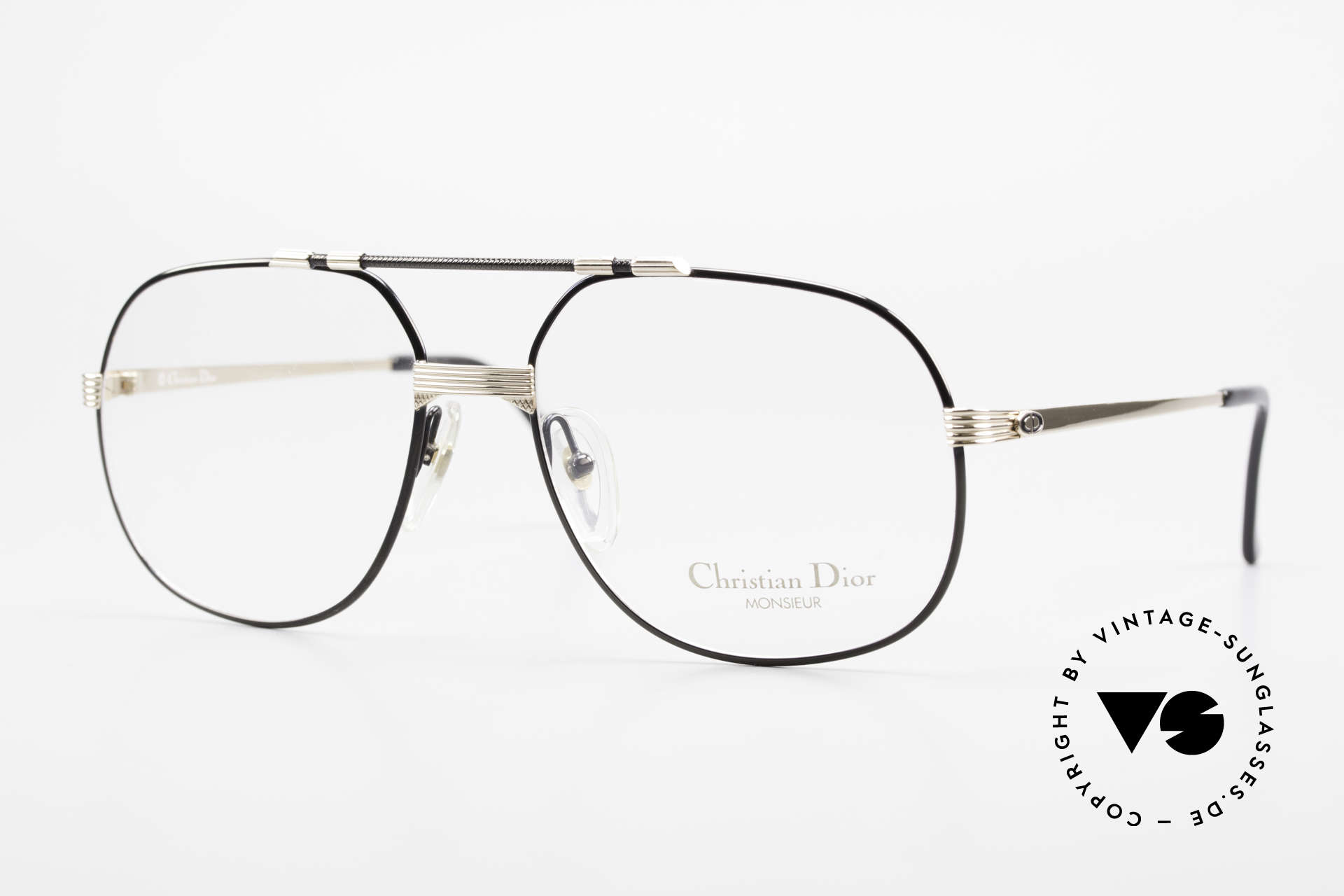 """Christian Dior 2487 Gold-Plated 80's Dior Monsieur, noble frame of the """"Monsieur""""-series by Christian Dior, Made for Men"""