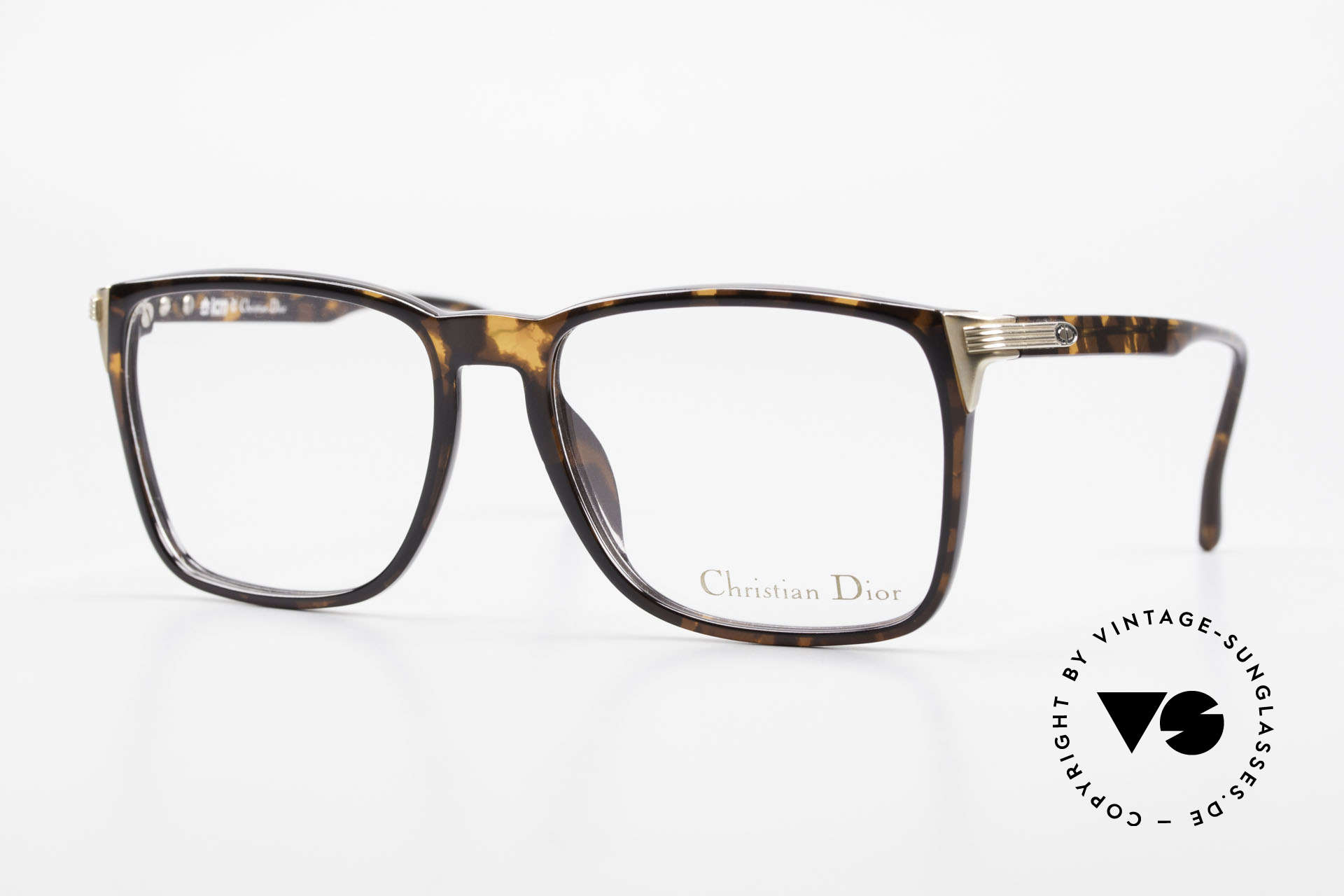 Christian Dior 2483 Old 80's Optyl Eyglass-Frame, striking, masculine Dior eyeglass-frame from 1989, Made for Men