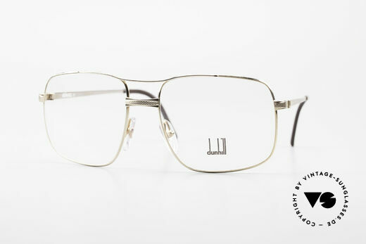Dunhill 6048 Gold Plated 80's Eyeglasses Details