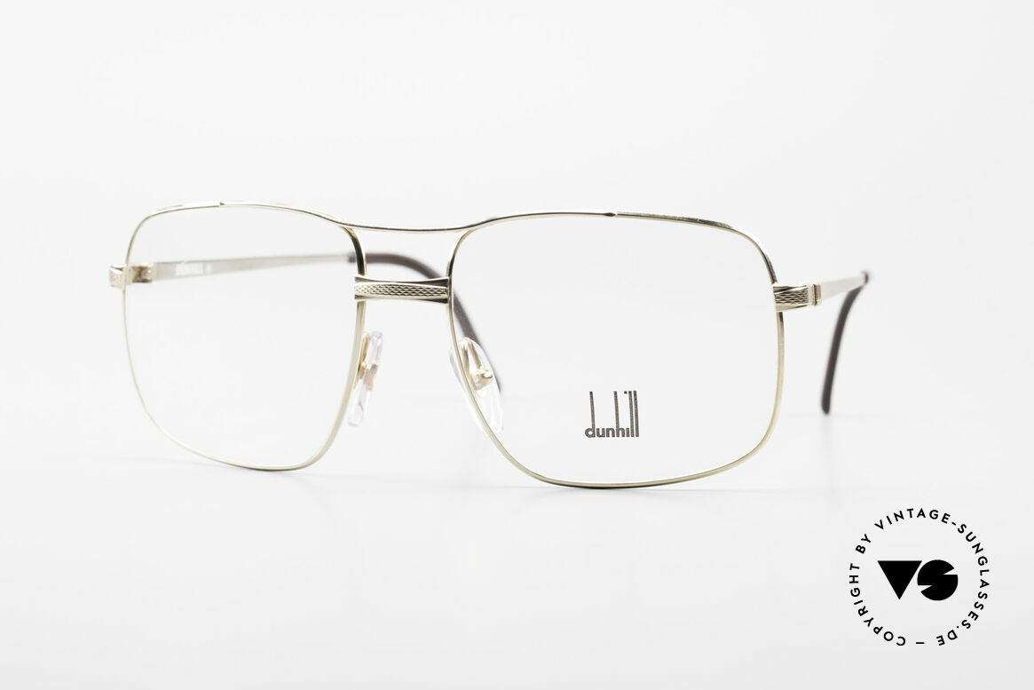 Dunhill 6048 Gold Plated 80's Eyeglasses, vintage Alfred Dunhill luxury eyeglasses from 1987, Made for Men