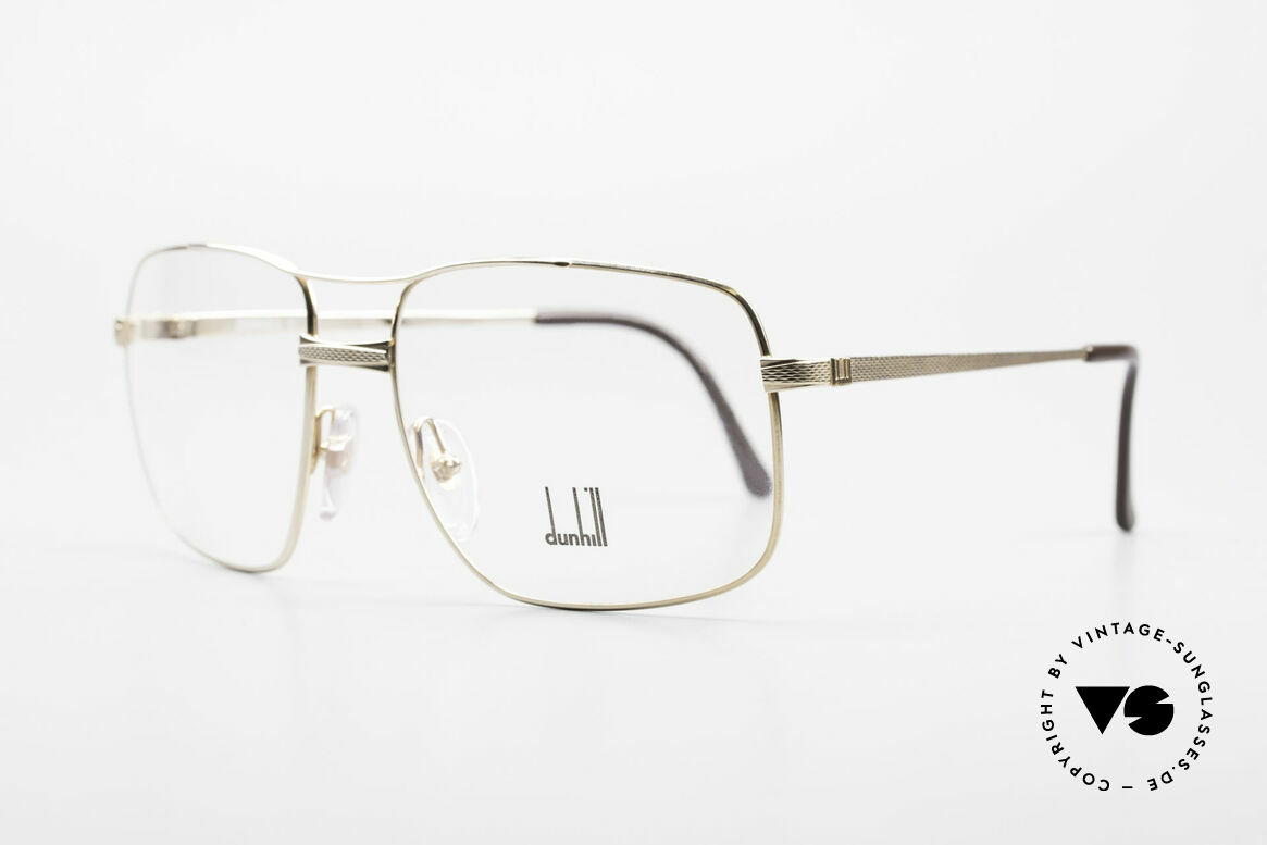 Dunhill 6048 Gold Plated 80's Eyeglasses, hinged joints ensure that the frame fits every face, Made for Men