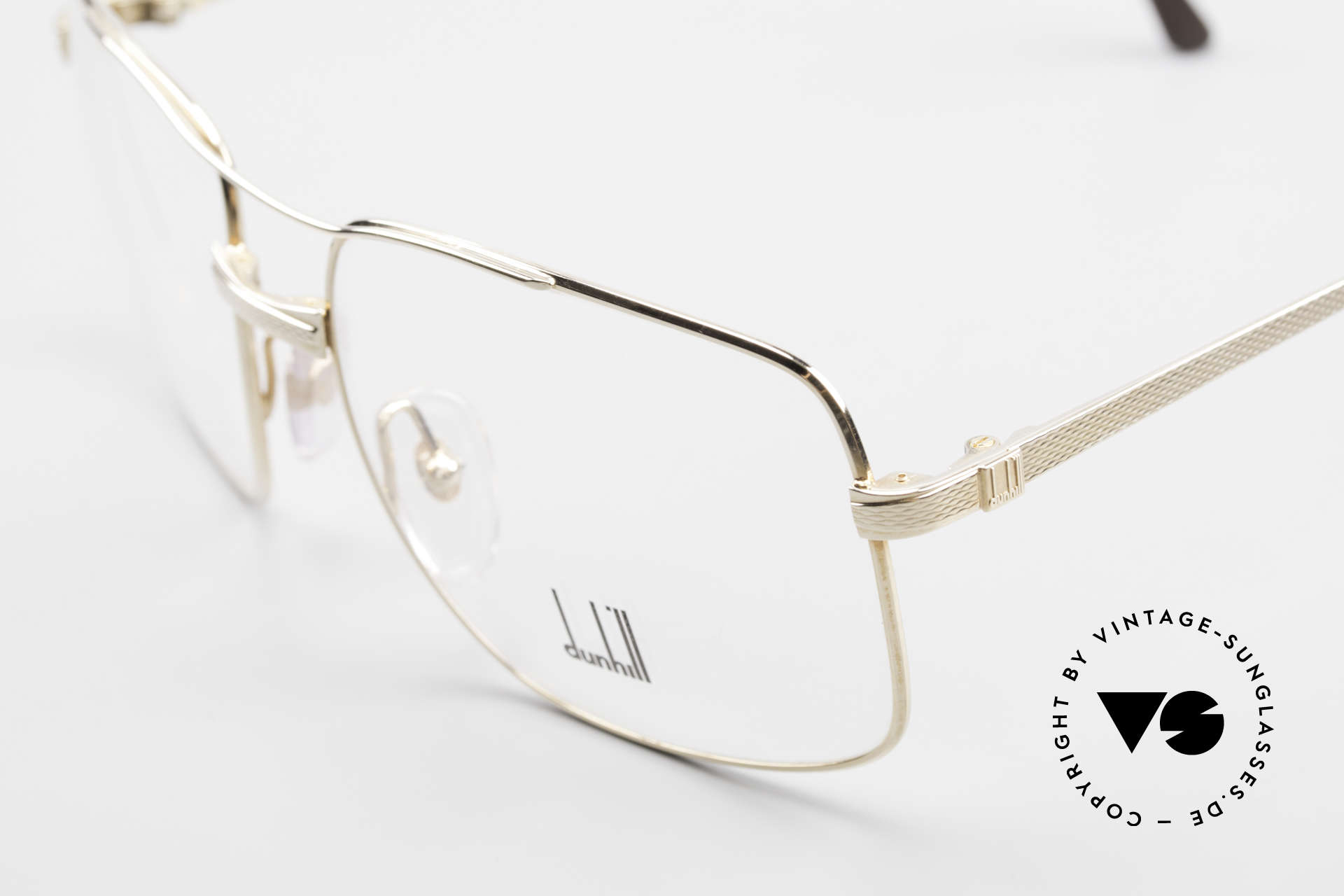Dunhill 6048 Gold Plated 80's Eyeglasses, gold-plated frame (built to last), You must feel this!, Made for Men