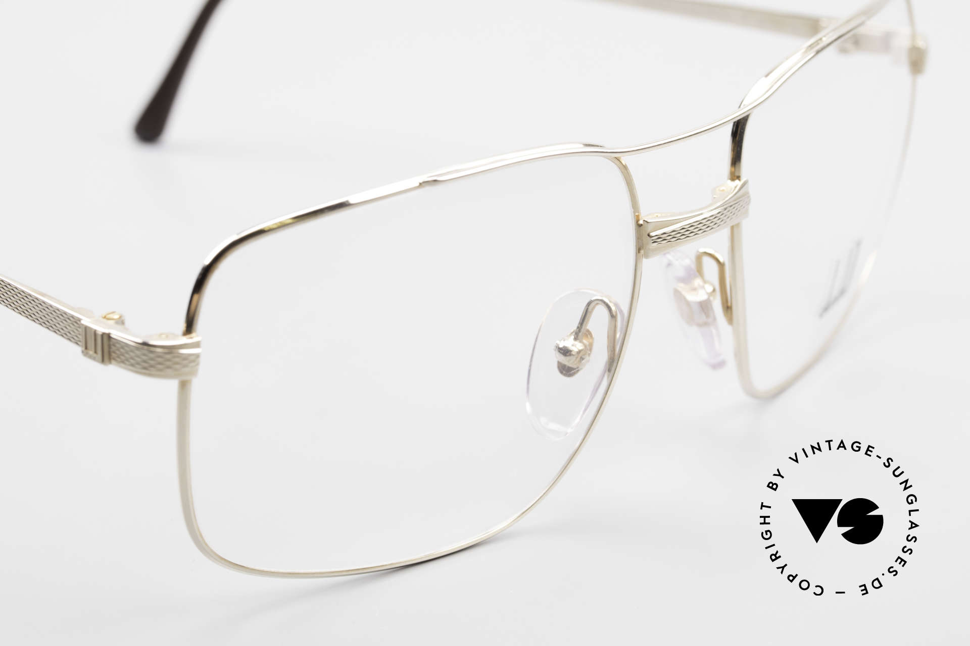 Dunhill 6048 Gold Plated 80's Eyeglasses, unworn rarity (like all our 80s Dunhill vintage specs), Made for Men