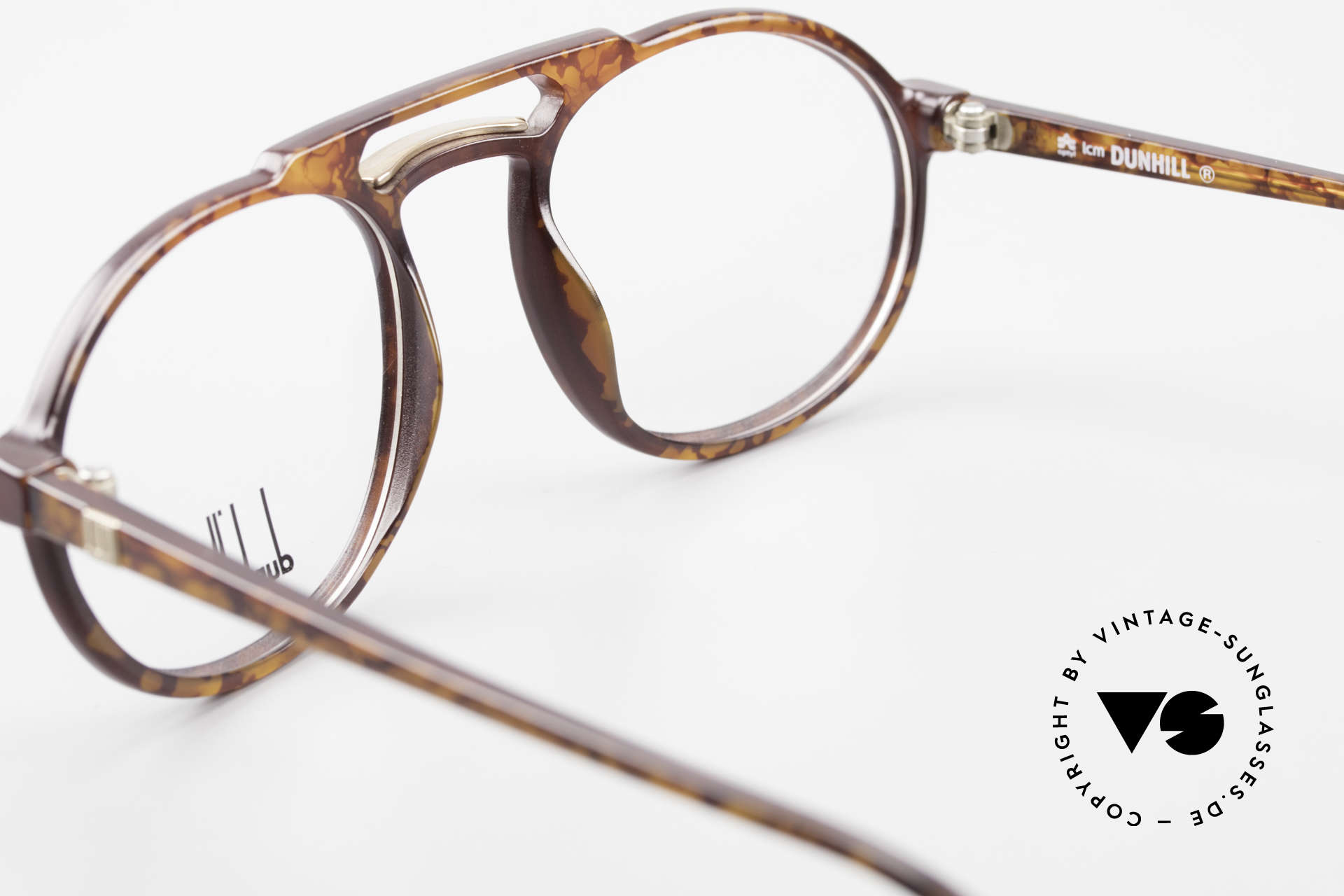 Dunhill 6114 Oval Round Vintage Frame 90s, NO retro design, but authentic old 1990's commodity, Made for Men