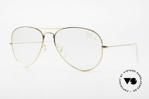 Ray Ban Aviator Old B&L USA Eyeglass-Frame Details