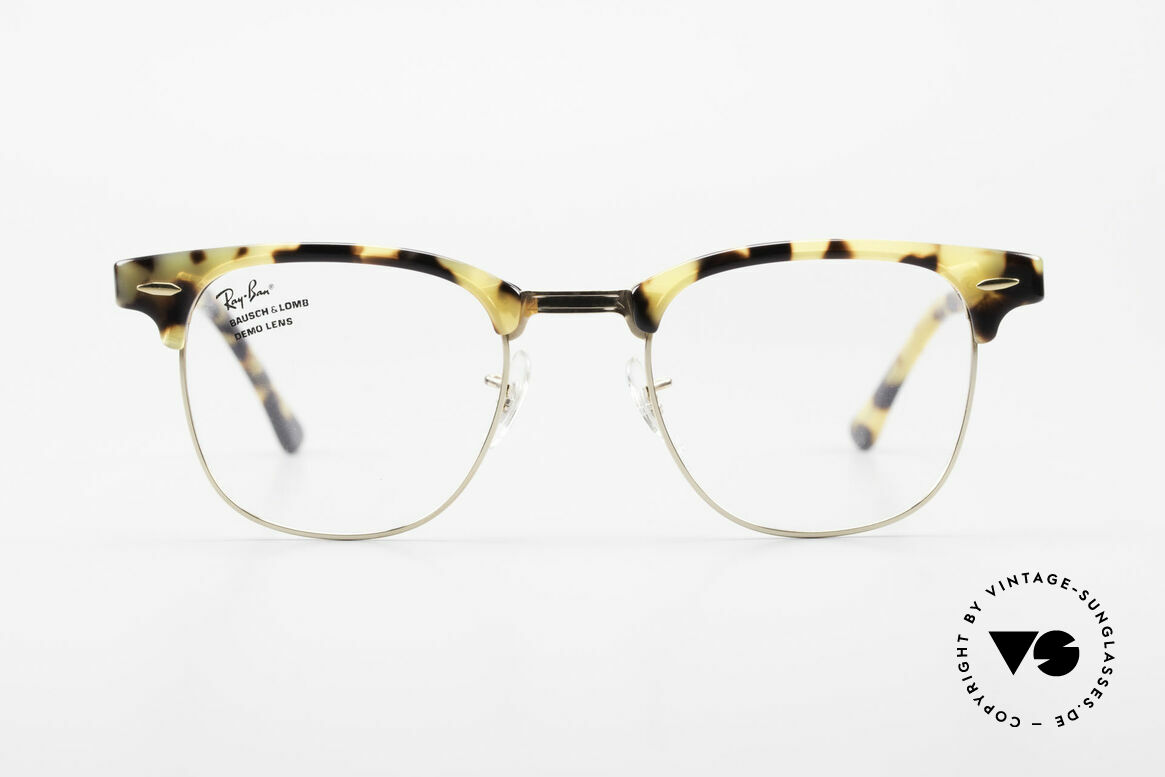 Ray Ban Clubmaster Limited Edition Frame USA B&L, rare Antique Havana Clubmaster, size 49-22, 140, Made for Men and Women