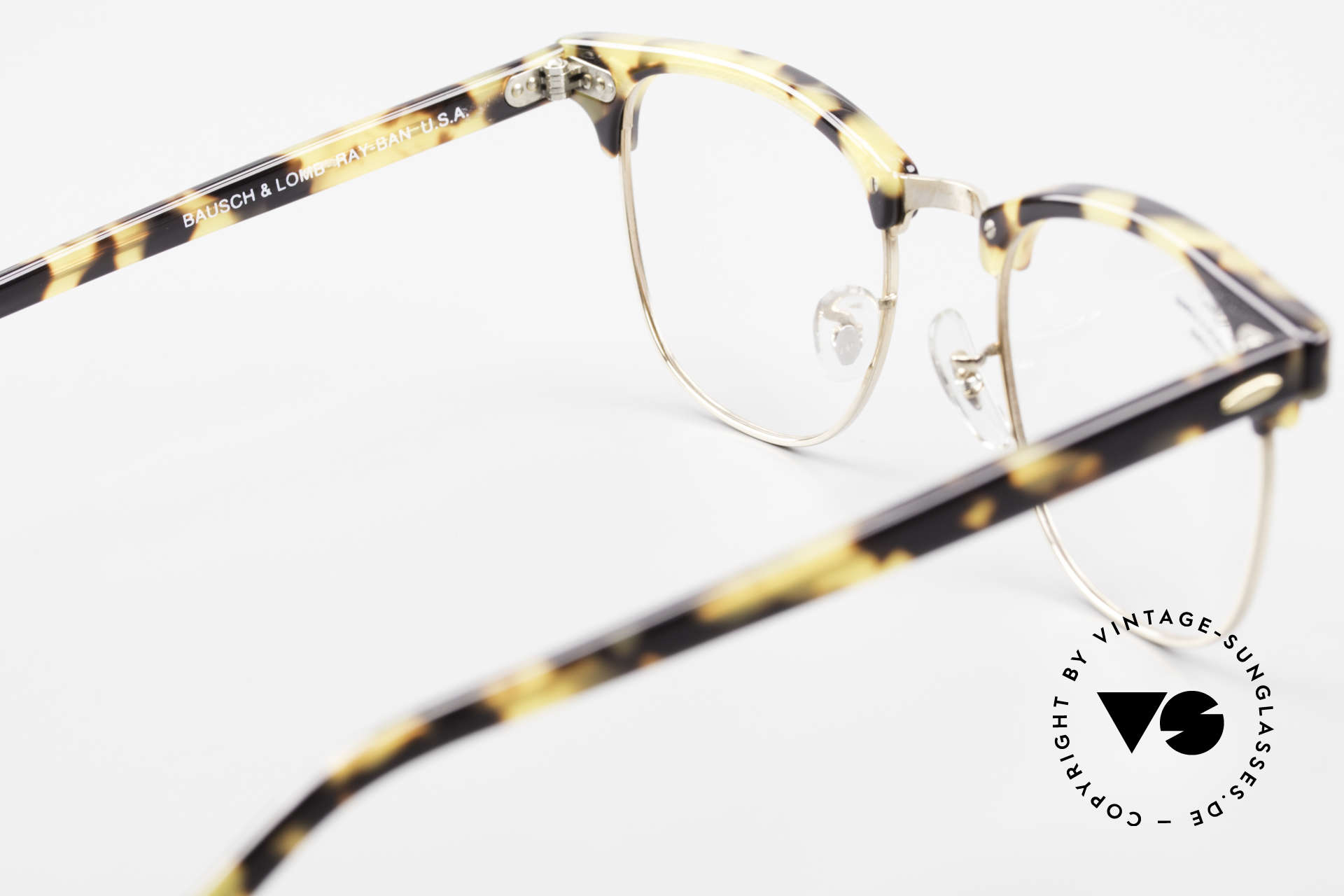 Ray Ban Clubmaster Limited Edition Frame USA B&L, NO RETRO frame, but a 25 years old B&L original, Made for Men and Women