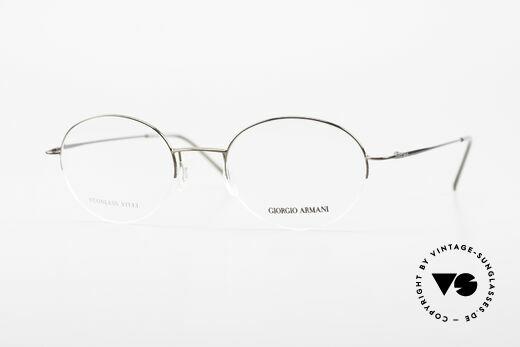 Giorgio Armani 27N Small Round Eyeglasses Nylor Details