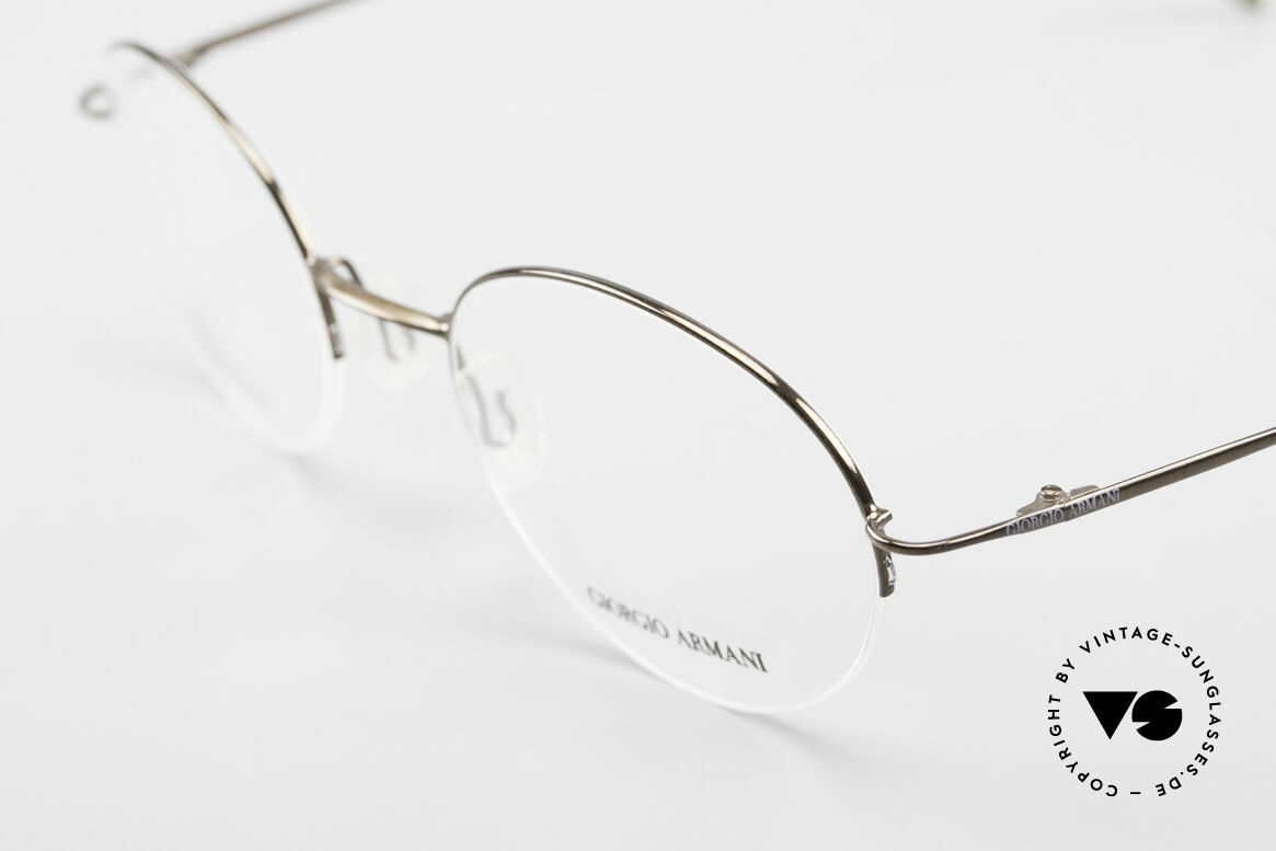Giorgio Armani 27N Small Round Eyeglasses Nylor, top quality and very comfortable (lightweight: 8g), Made for Men and Women