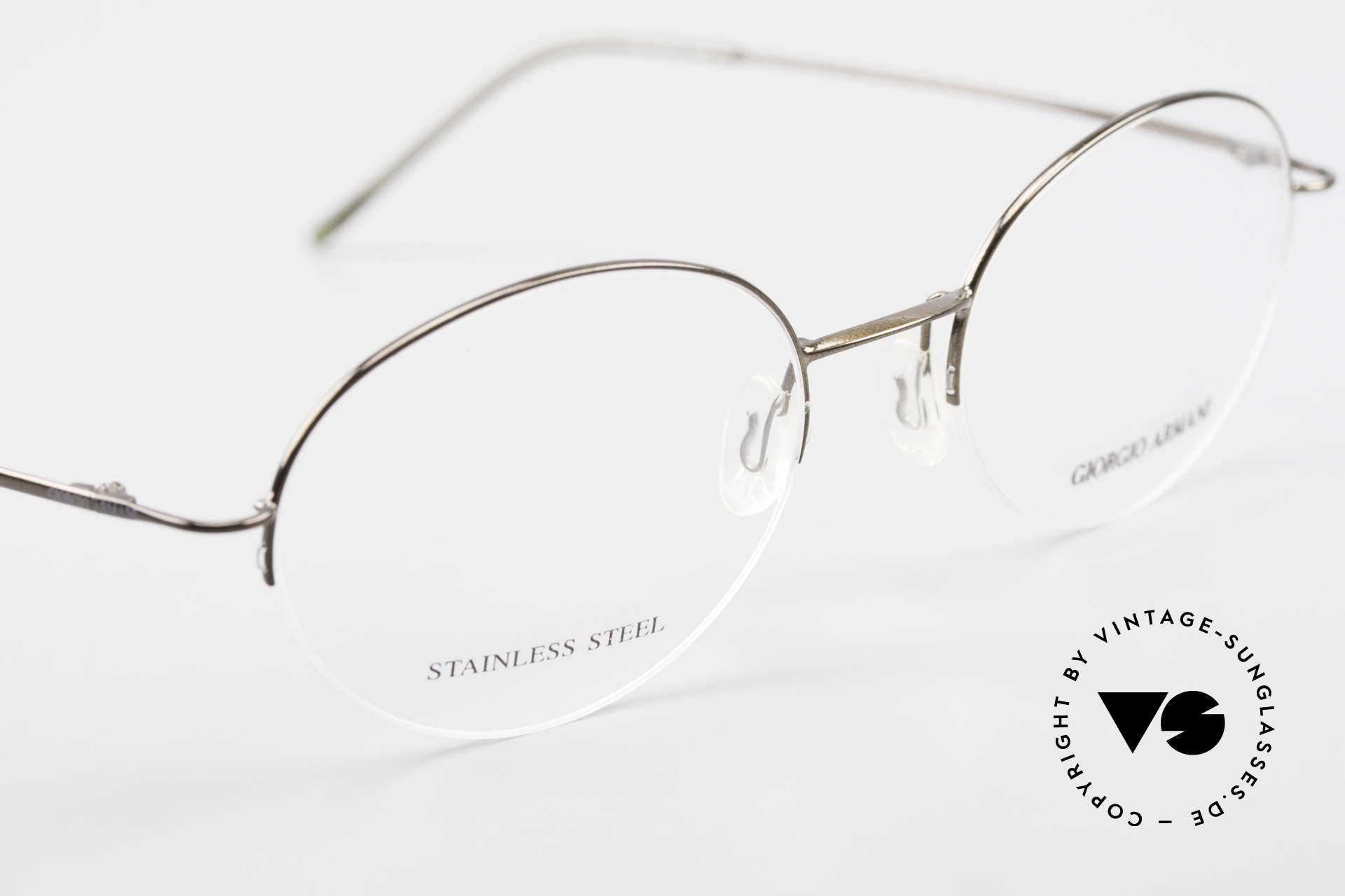 Giorgio Armani 27N Small Round Eyeglasses Nylor, unworn original from the mid. 1990's (SMALL SIZE), Made for Men and Women