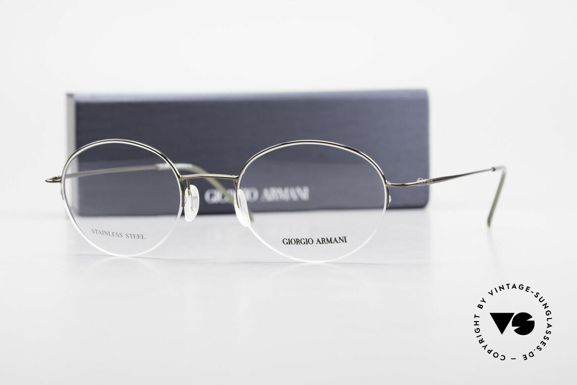 Giorgio Armani 27N Small Round Eyeglasses Nylor, Size: small, Made for Men and Women