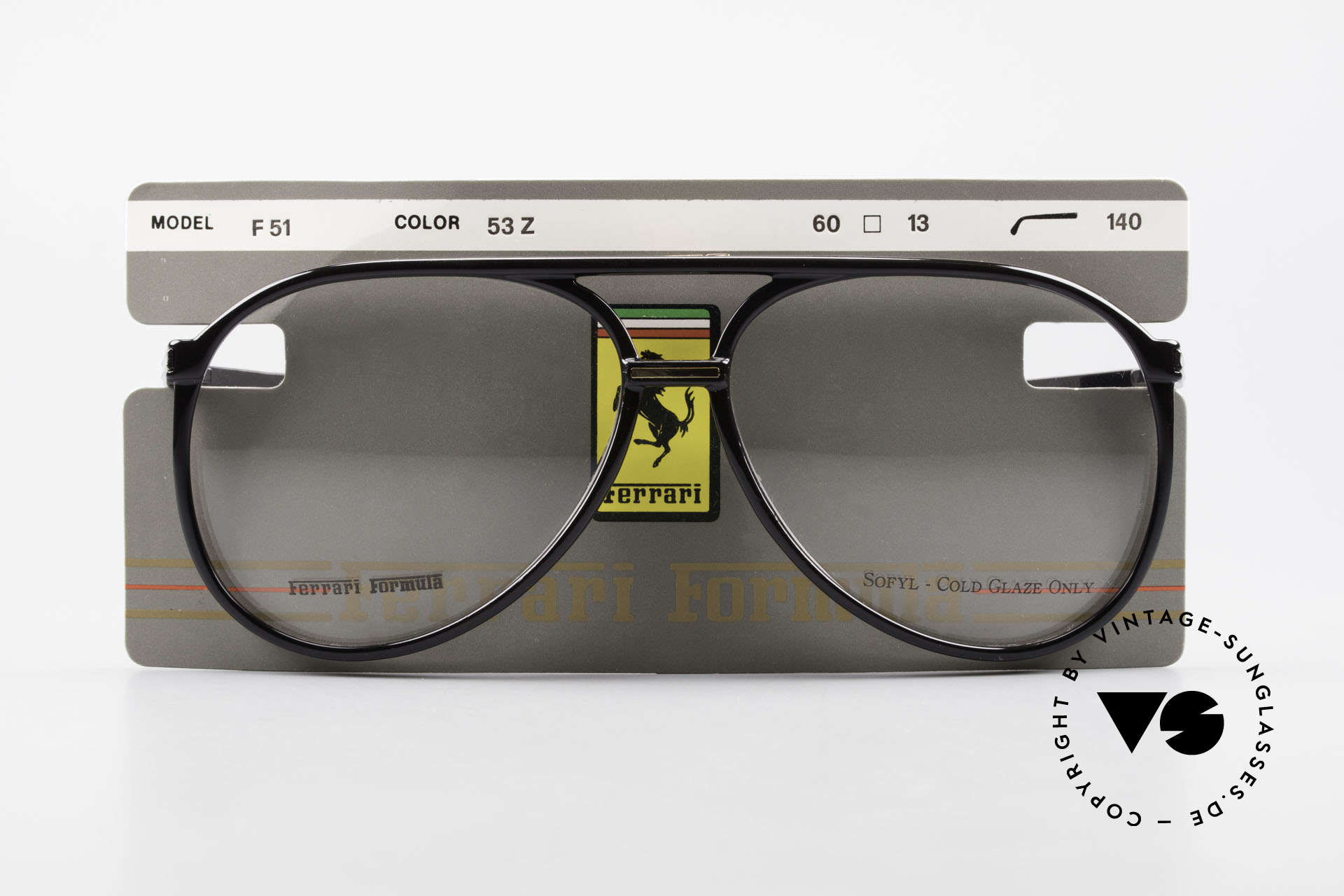 Ferrari F51 90's Formula 1 Racing Glasses, Size: large, Made for Men